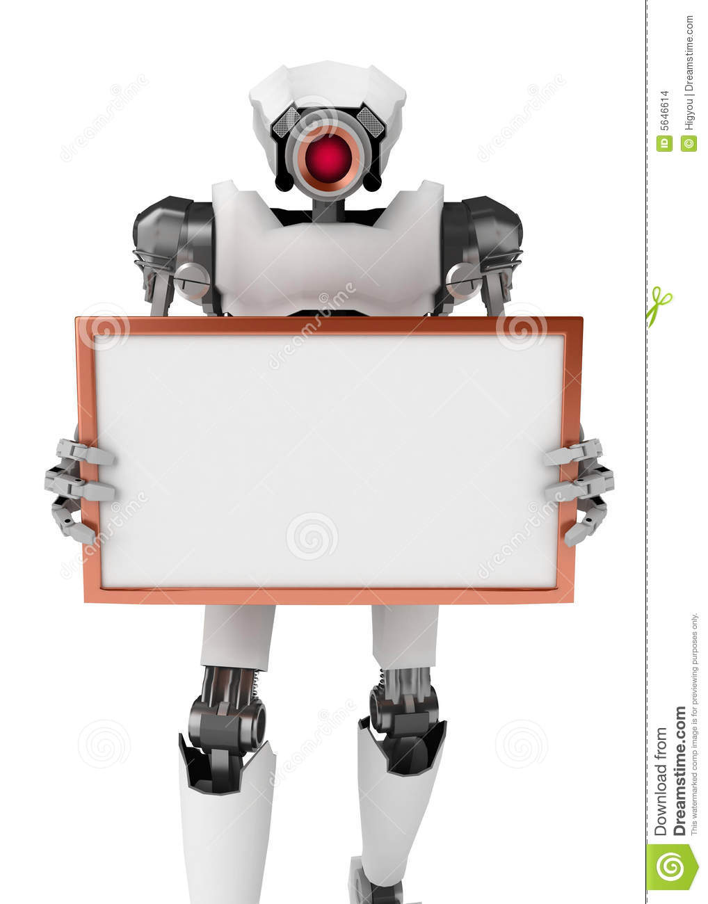 Robot, Holding a Sign