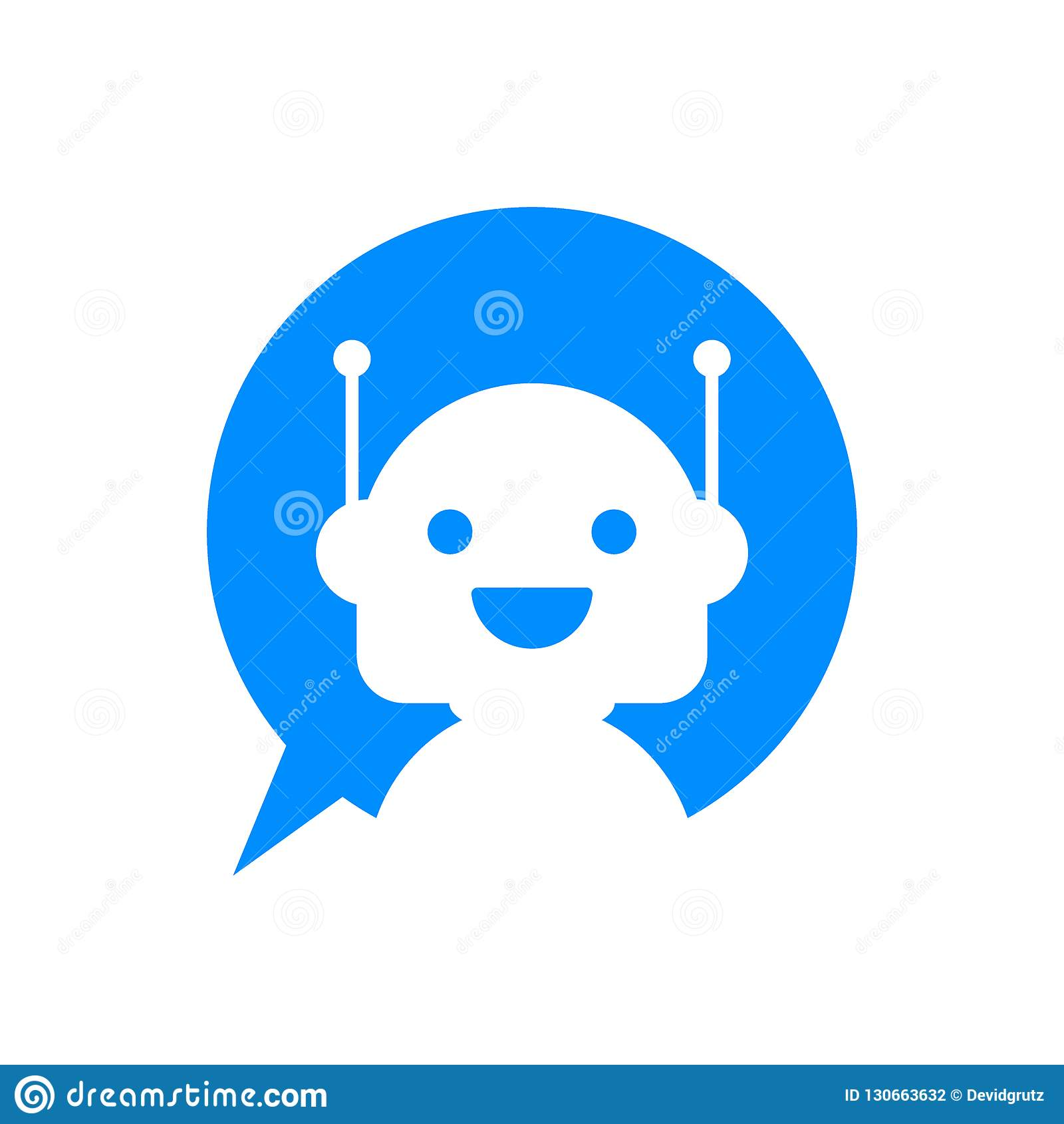 Robot Icon  Bot Sign Design  Chatbot Symbol Concept  Voice Support