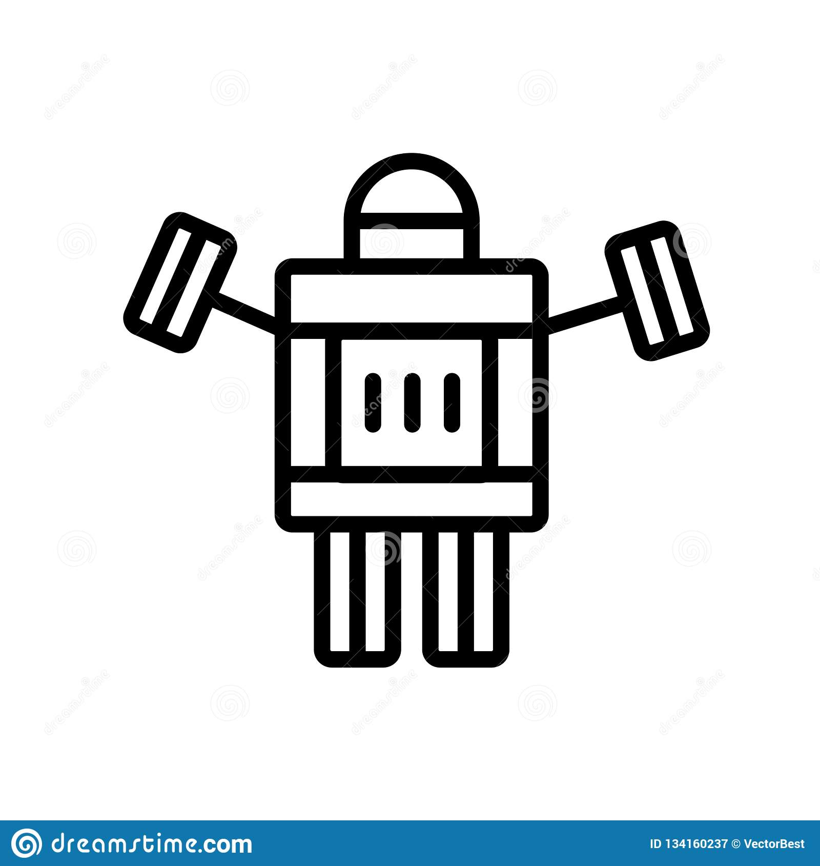 Robot Icon Vector Sign And Symbol Isolated On White
