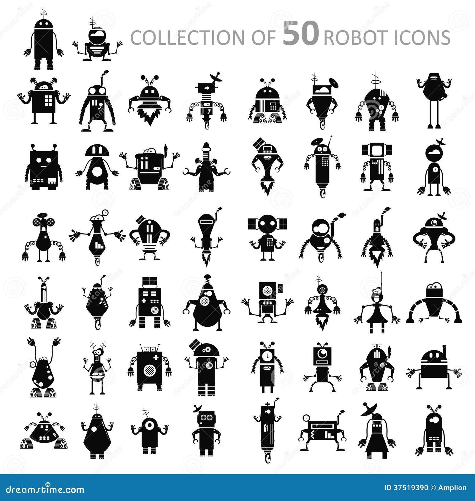 Robot ikony