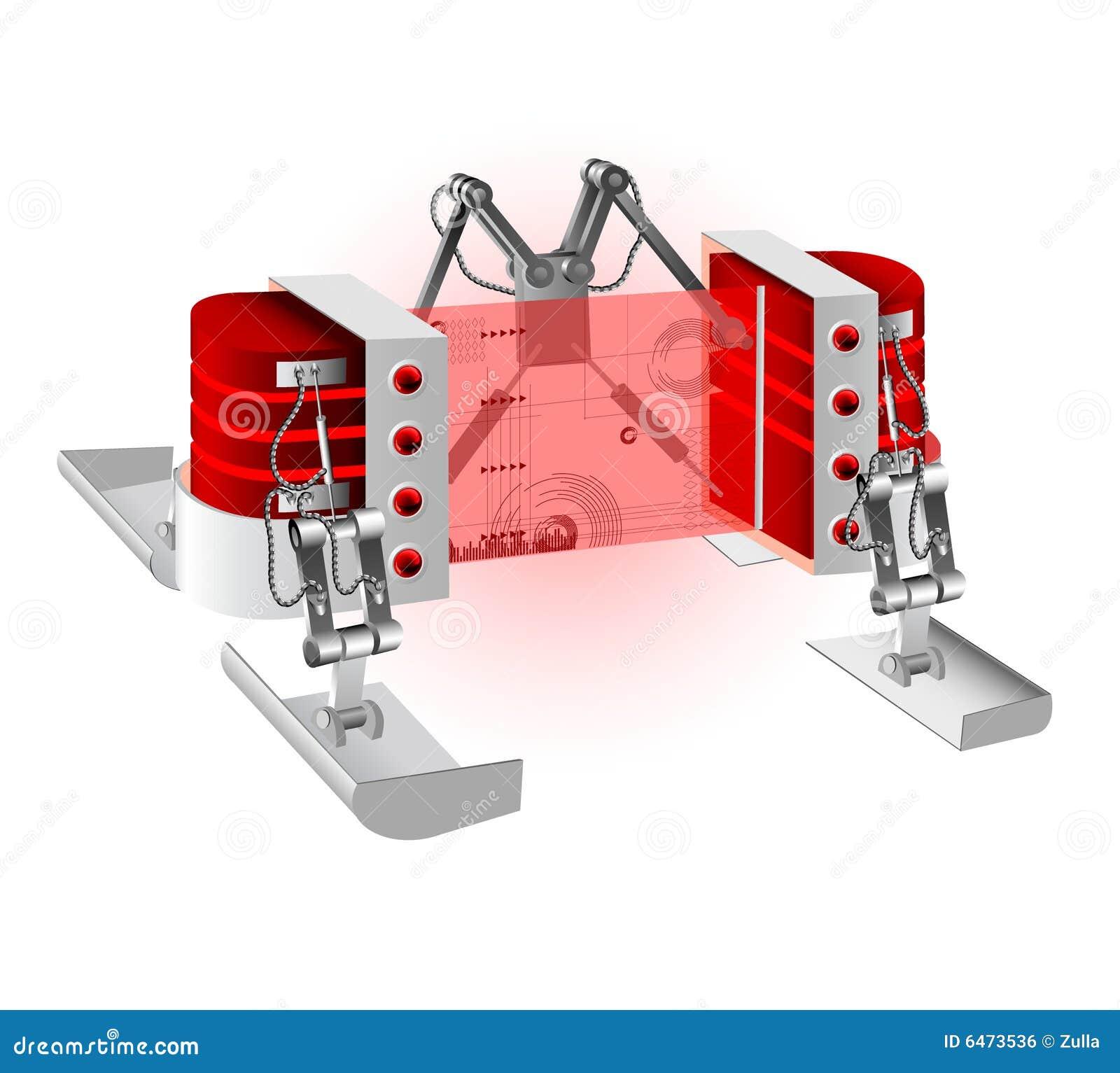 Robot ilustracyjny wektora