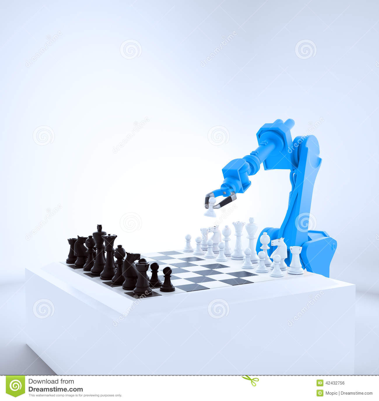 Robot industrial que juega a ajedrez