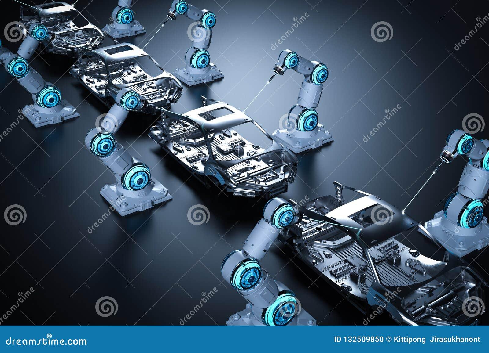 Robot linia montażowa