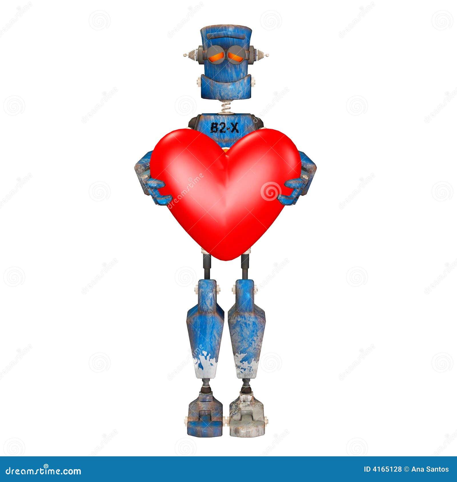robot in love stock illustration illustration of goofy