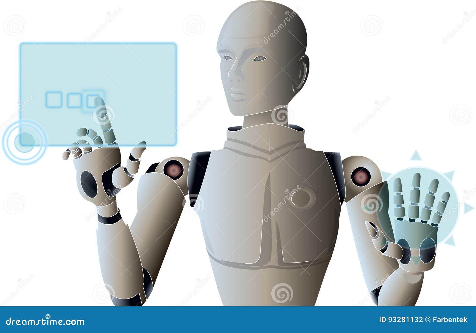 Robot Managing And Operating Virtual Hud Screen Interface