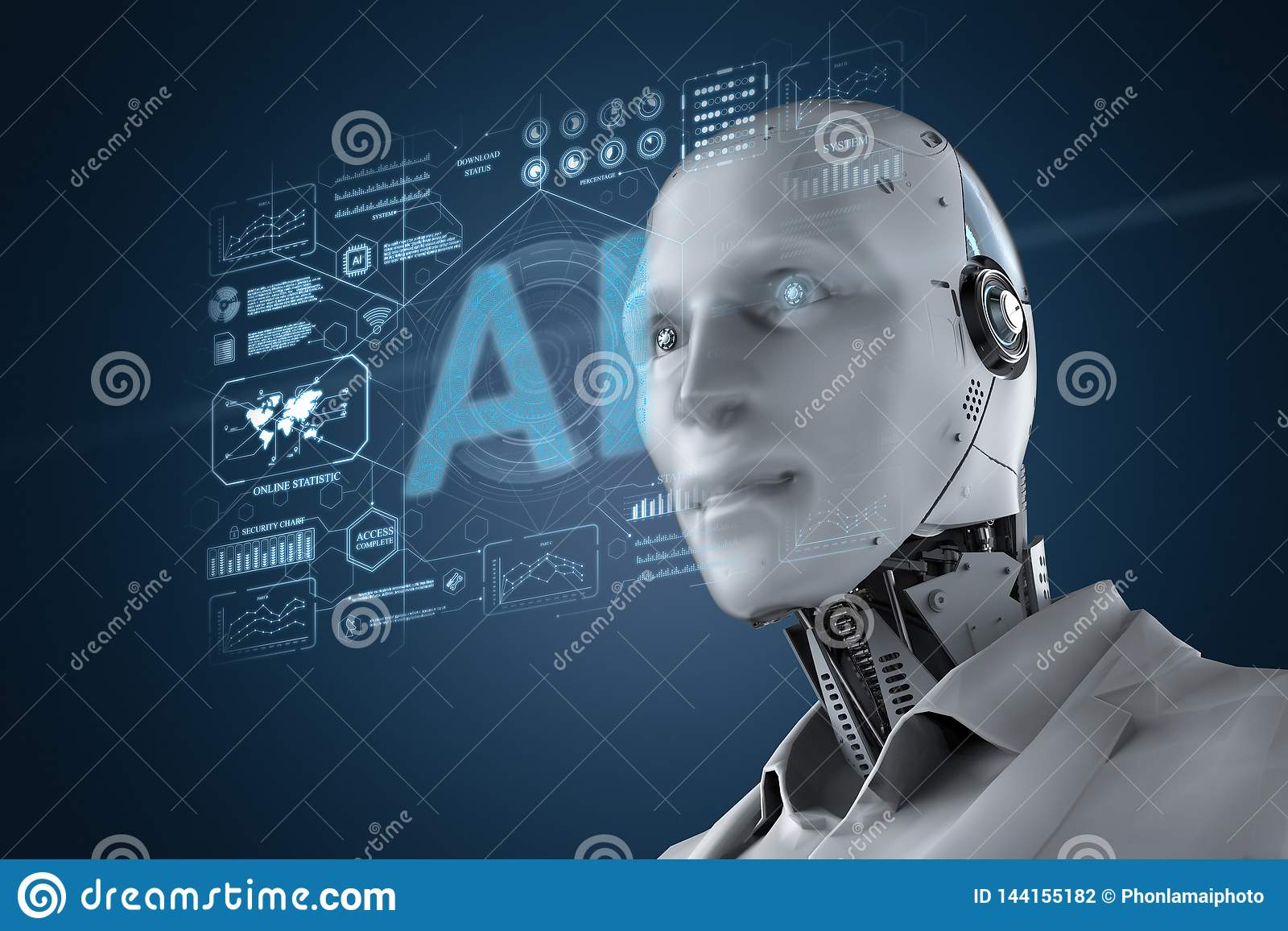 Robot med grafisk skärm