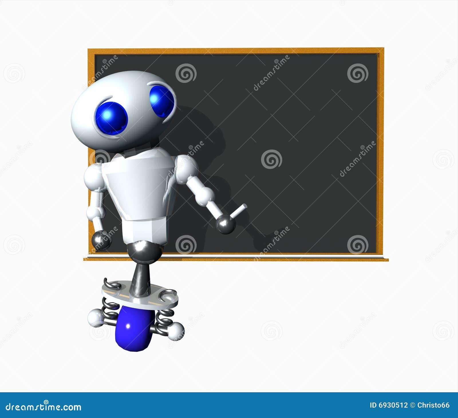 Robot met Leeg Bord