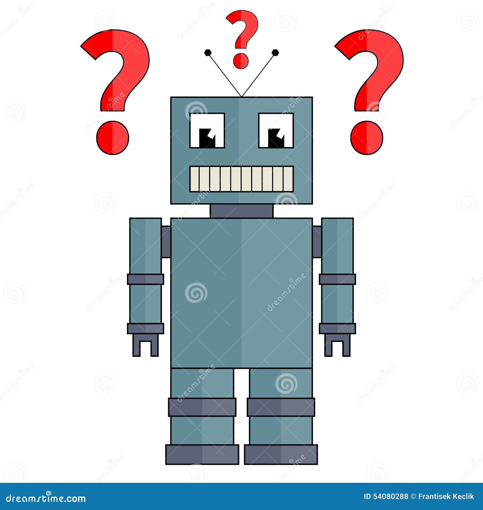 Robot met vraagtekens