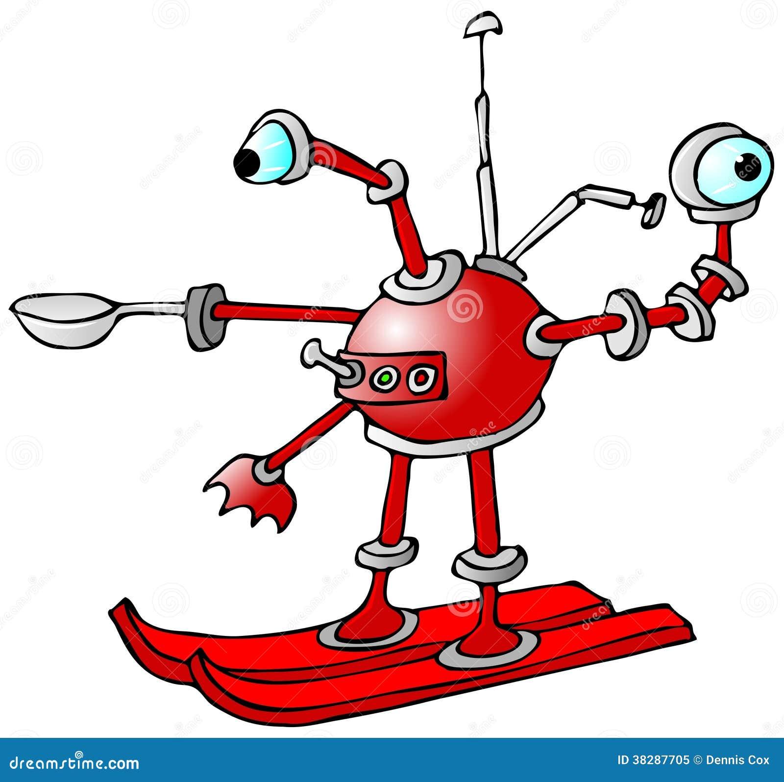 Robot na nartach