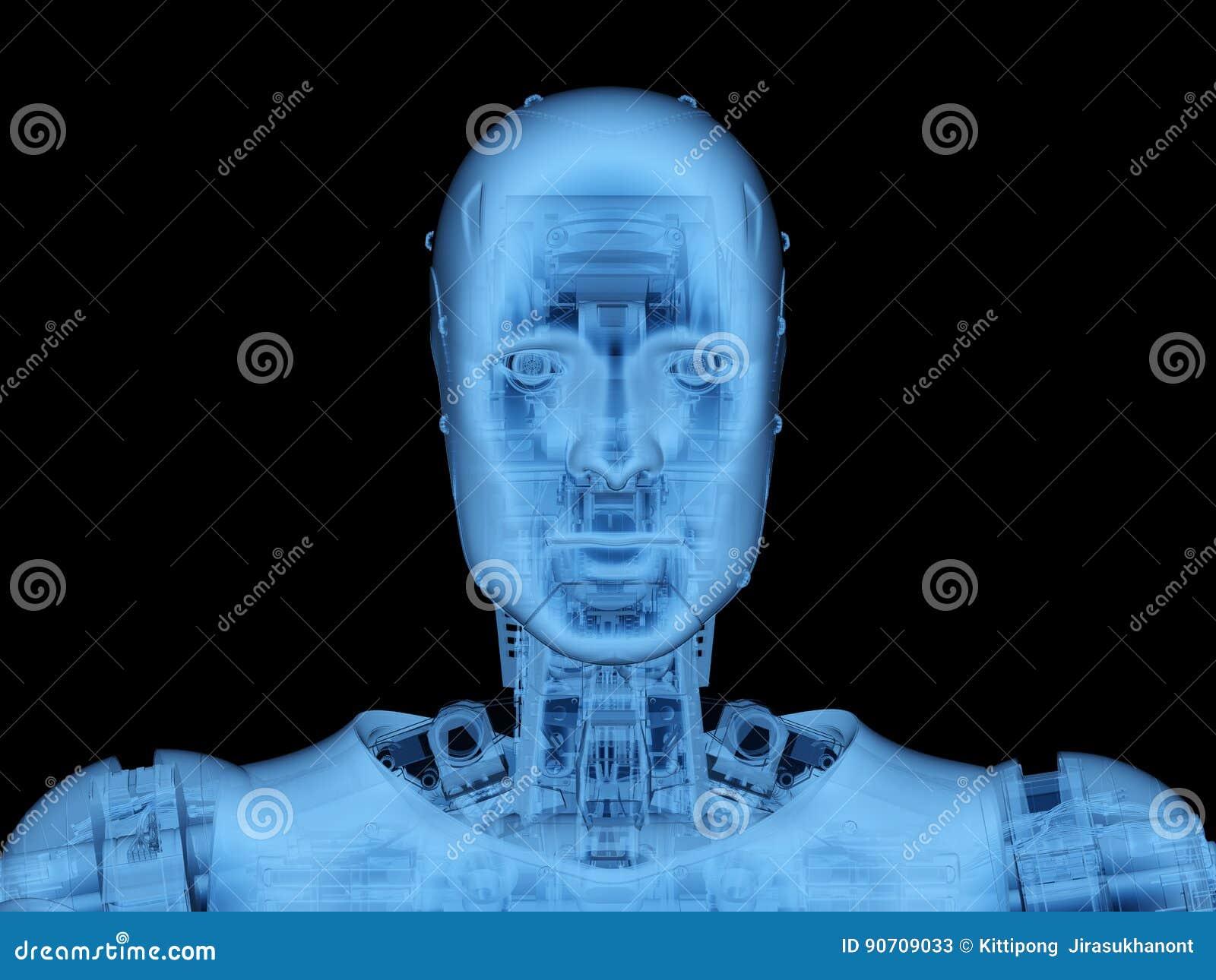 Robot ou cyborg de rayon X