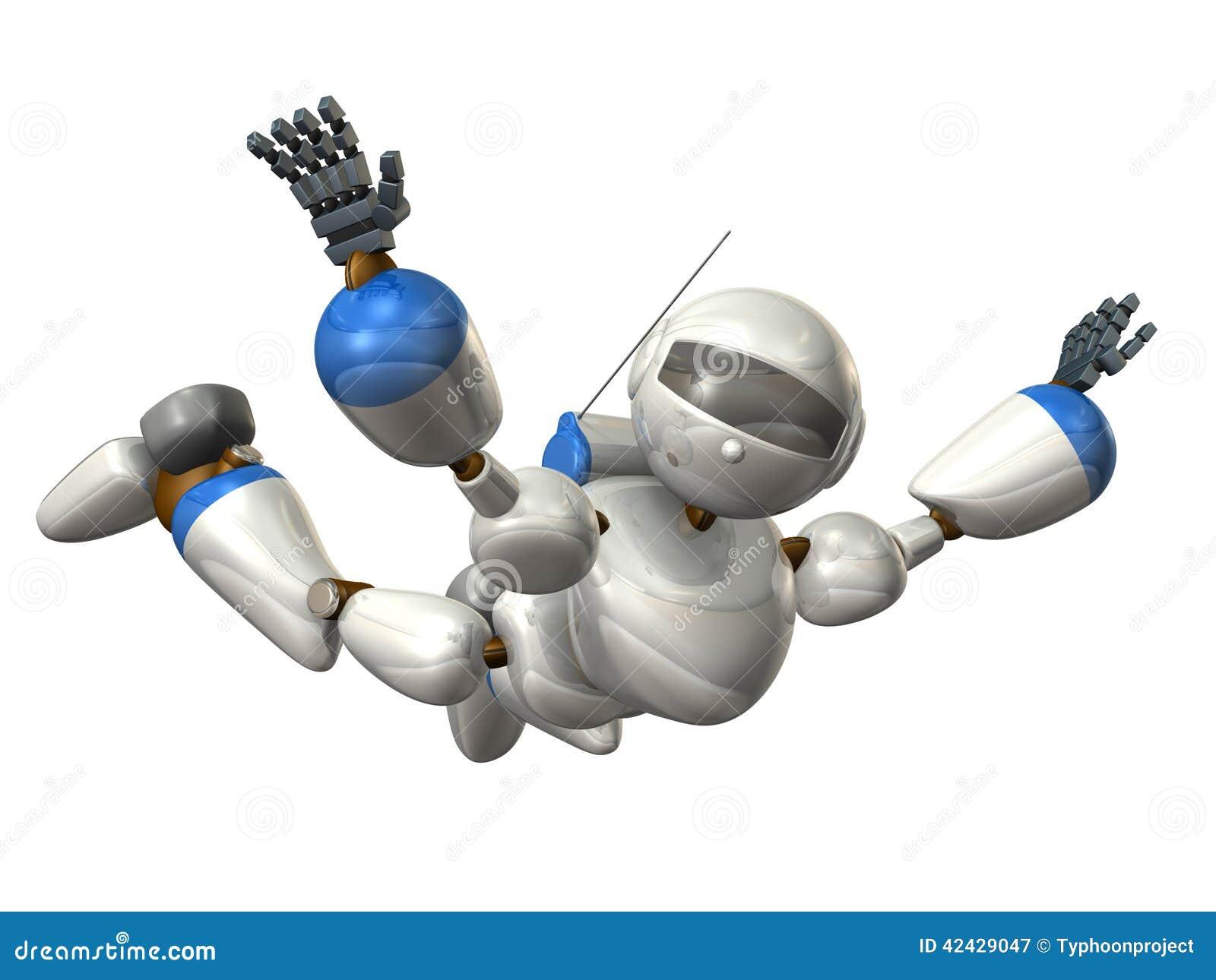 Robot para liberar caída
