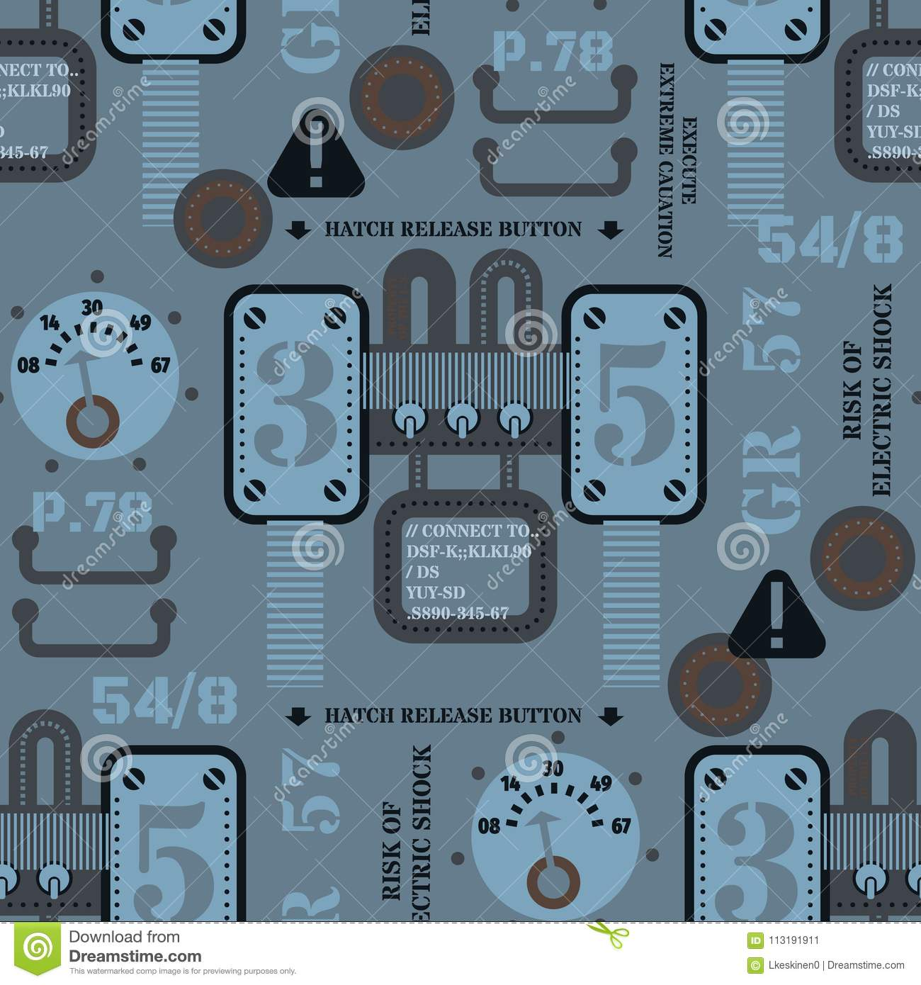 79ff963f1 Robot parts and gear seamless pattern. Original design for print or digital  media.