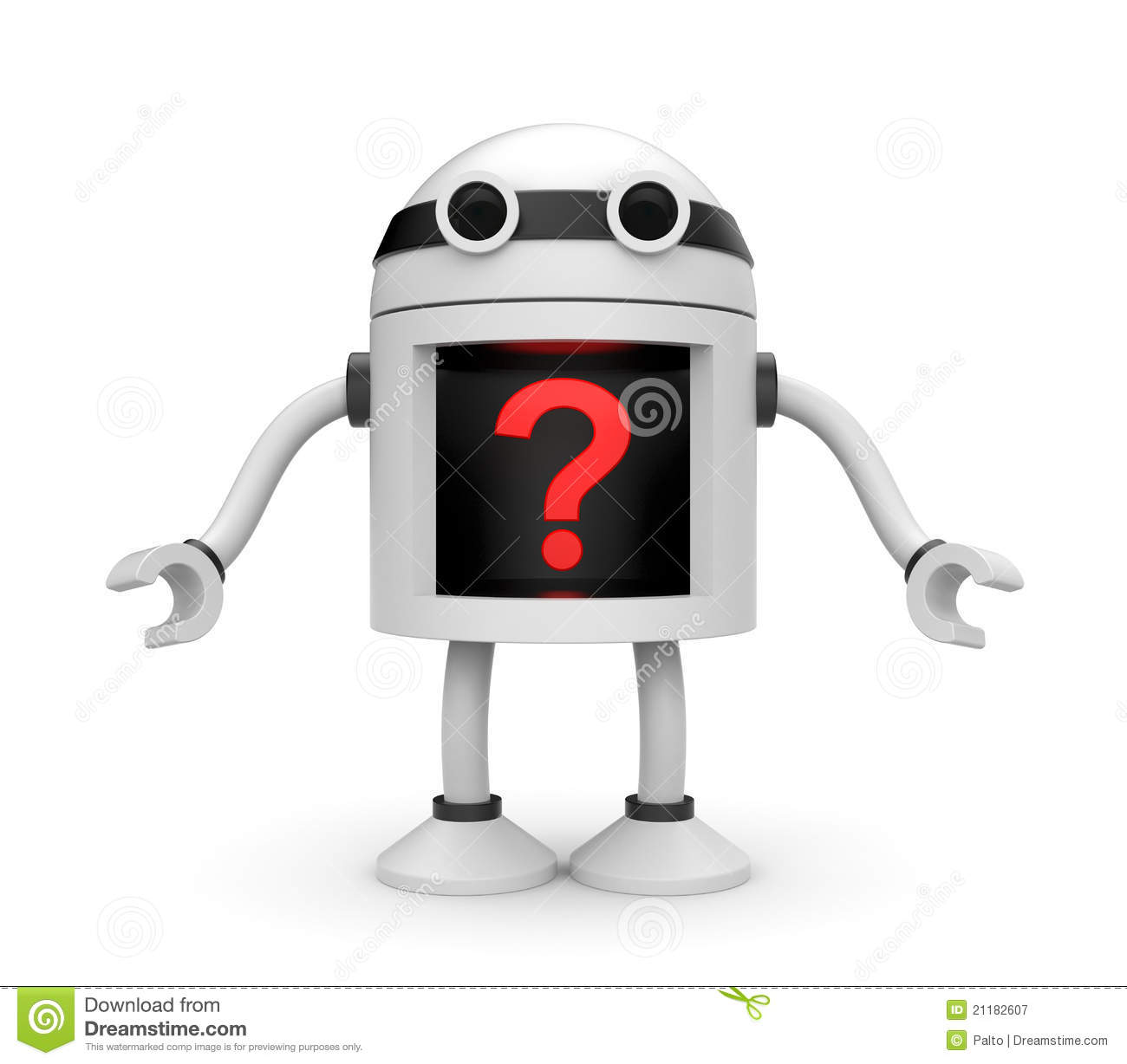 Robot with question