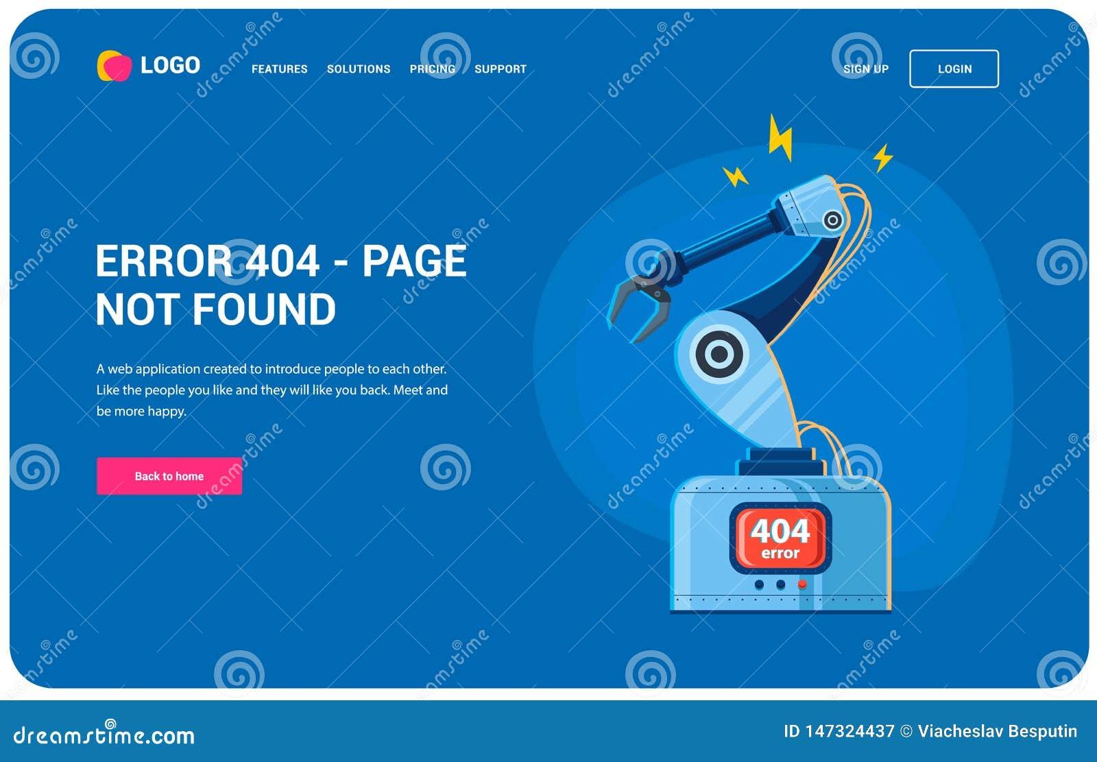 Robot ręki błąd 404
