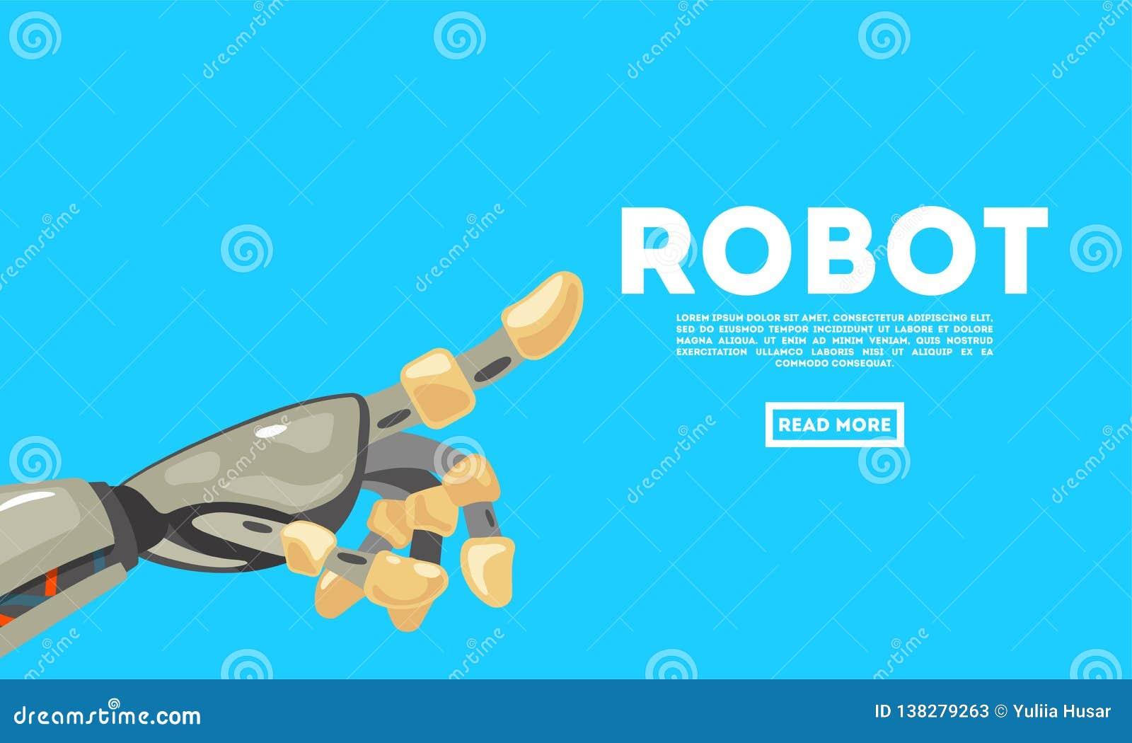 Robot ręki gest larwa Machinalnej technologii inżynierii maszynowy symbol Futurystyczny projekta pojęcie