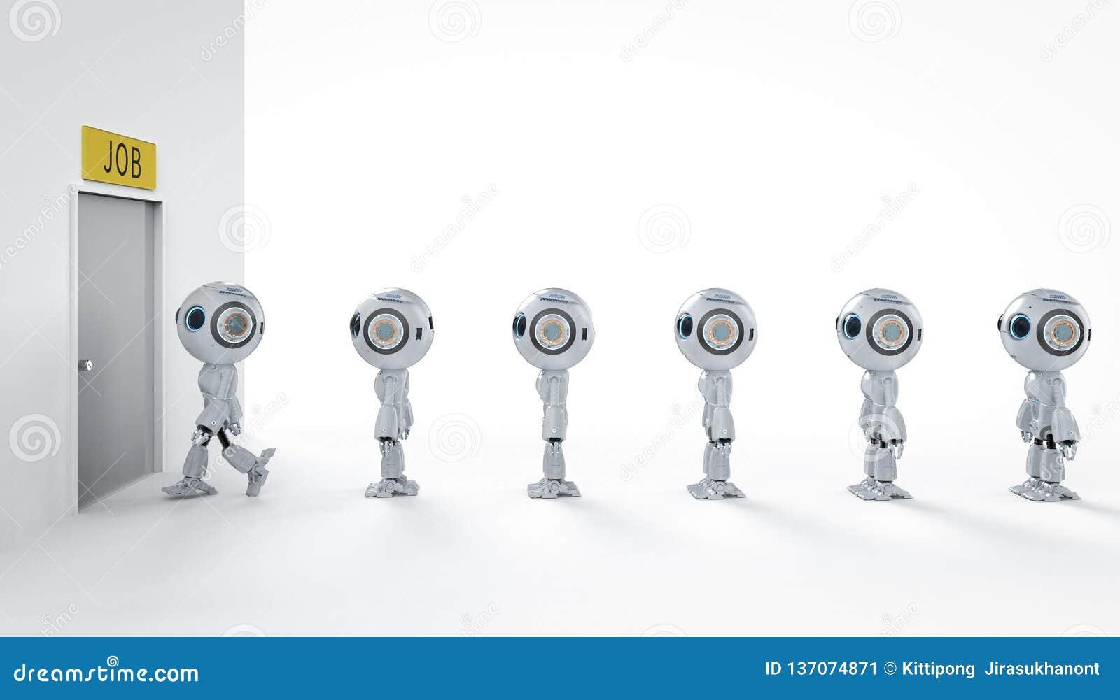 Robot replace human job