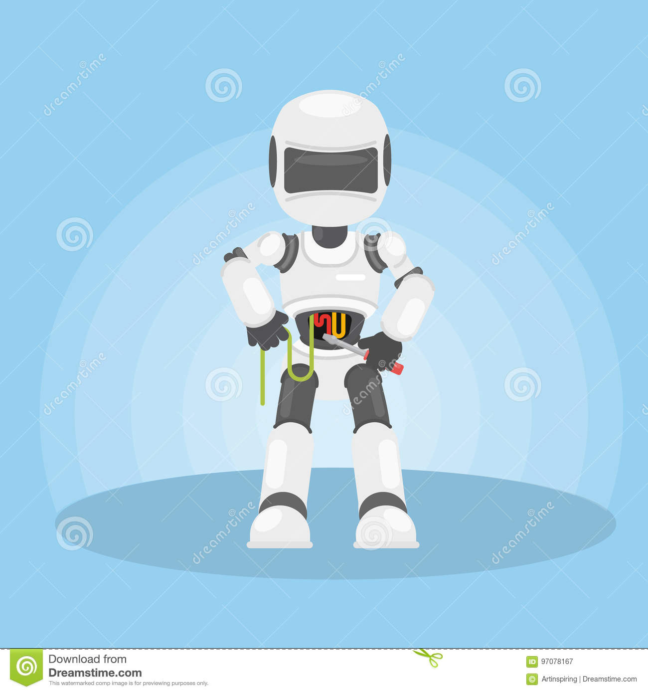 robot s self repair stock vector illustration of color 97078167