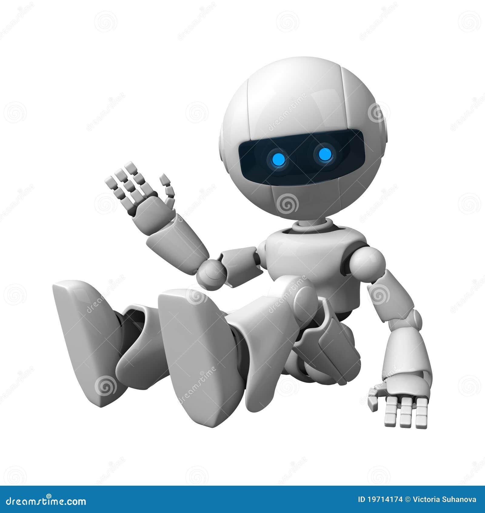 robot sitting stock images image 19714174 Cartoon Running Girl Running