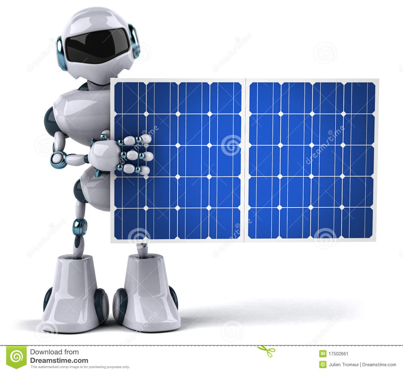 Robot And Solar Panel Stock Image Image 17502661