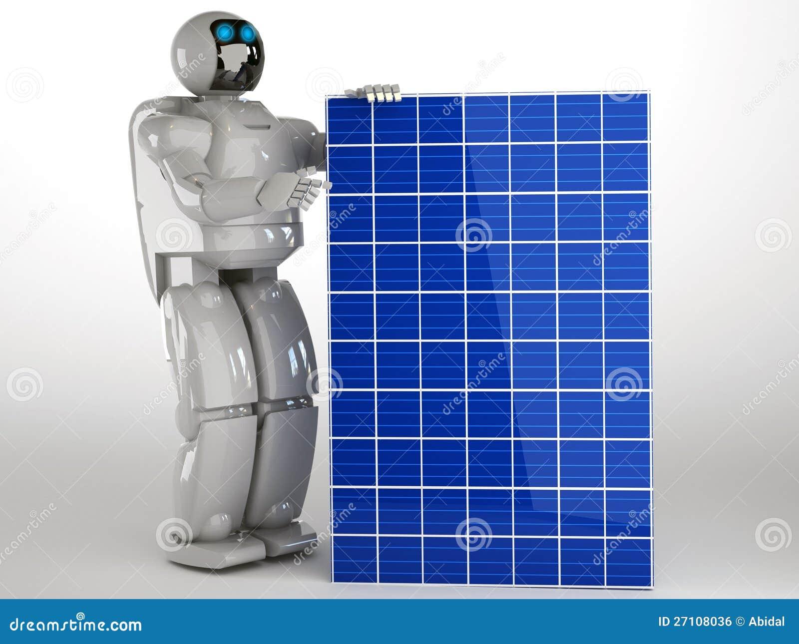 how to make a solar panel robot