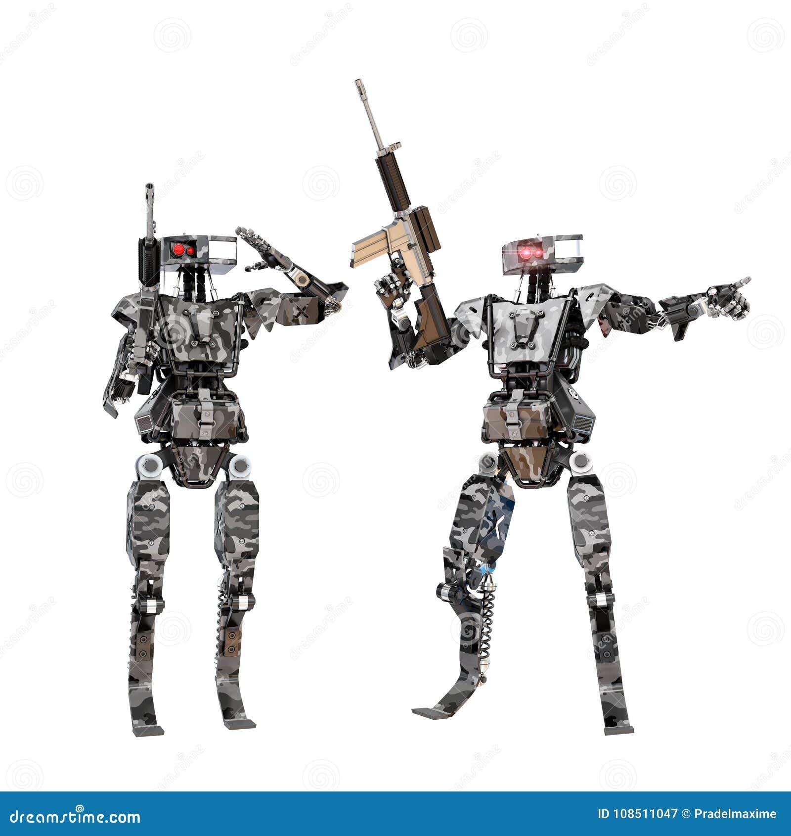 Robot soldier team