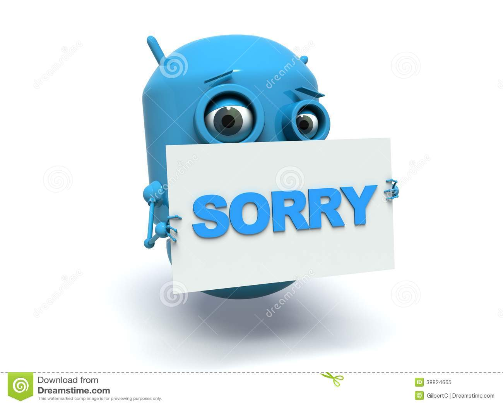 Robot Sorry Stock Illustration