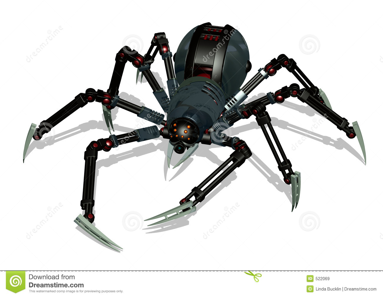 Robot Spider With Clipping Path Royalty Free Stock Images Image 522069
