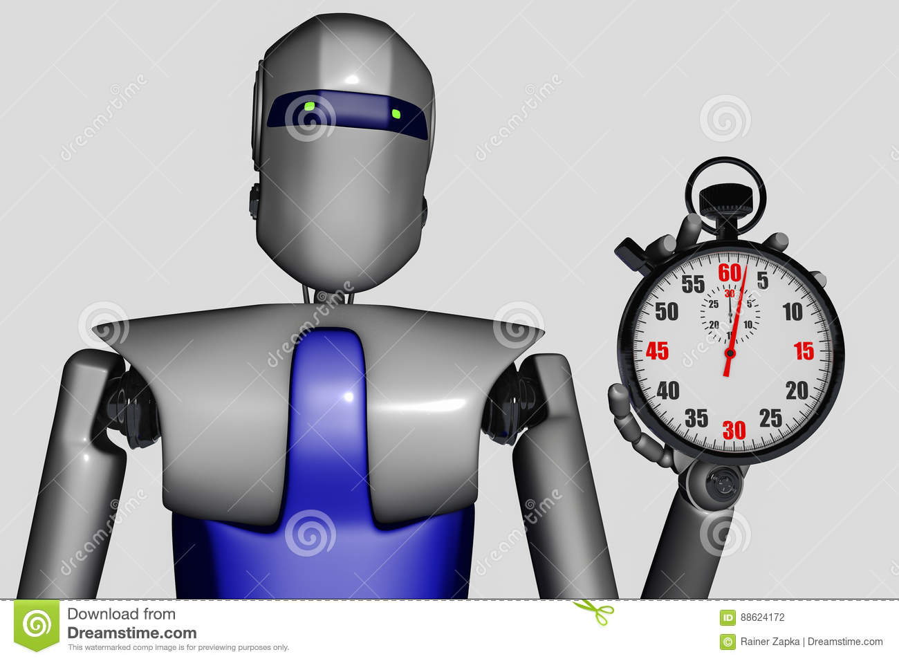 Robot and stopwatch