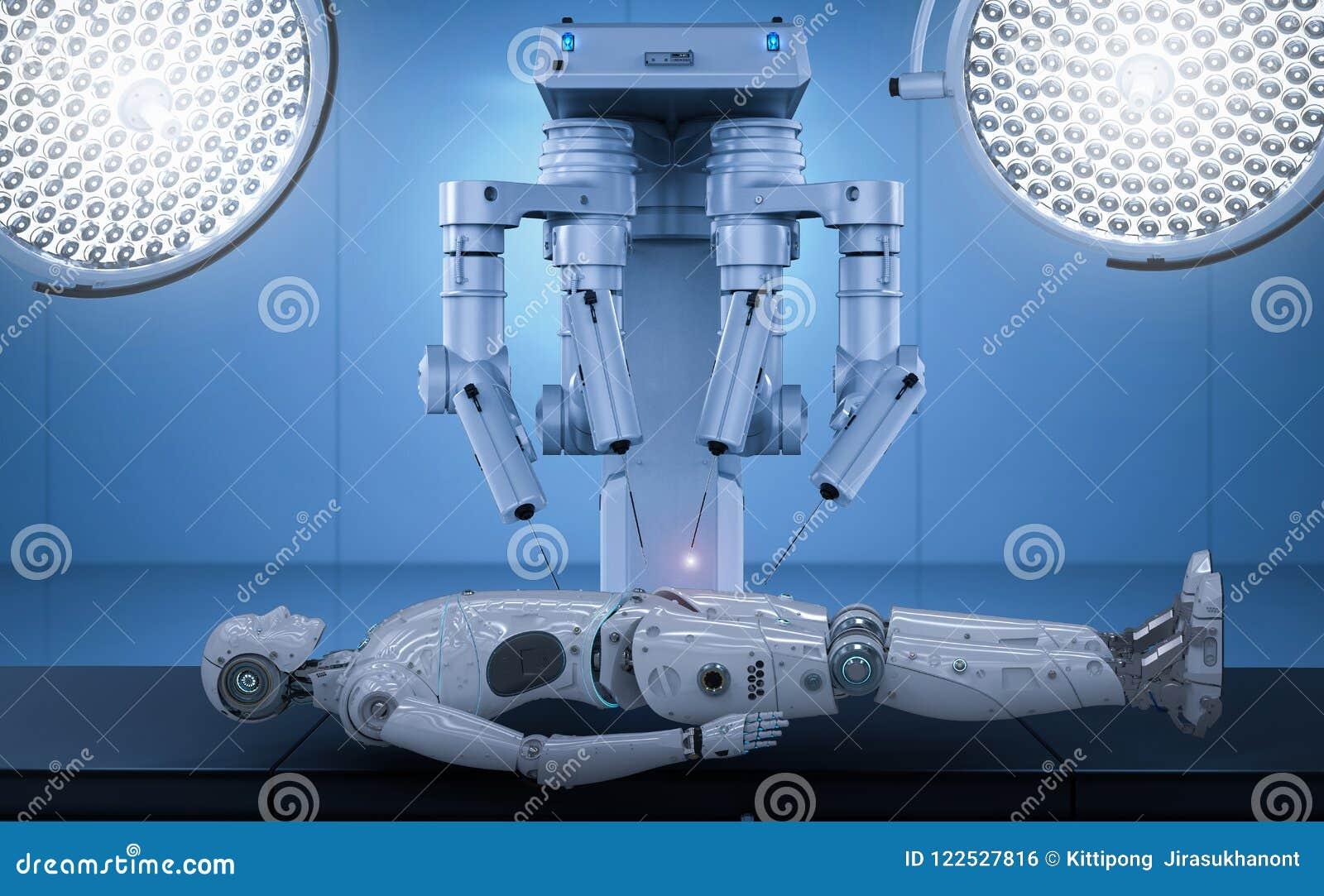 Robot surgery maintenance ai cyborg