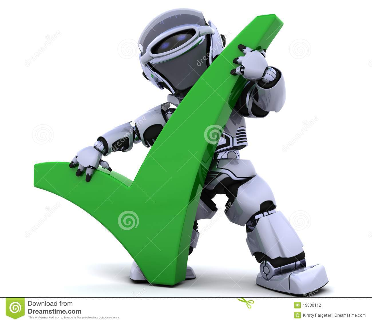 Robot with symbol