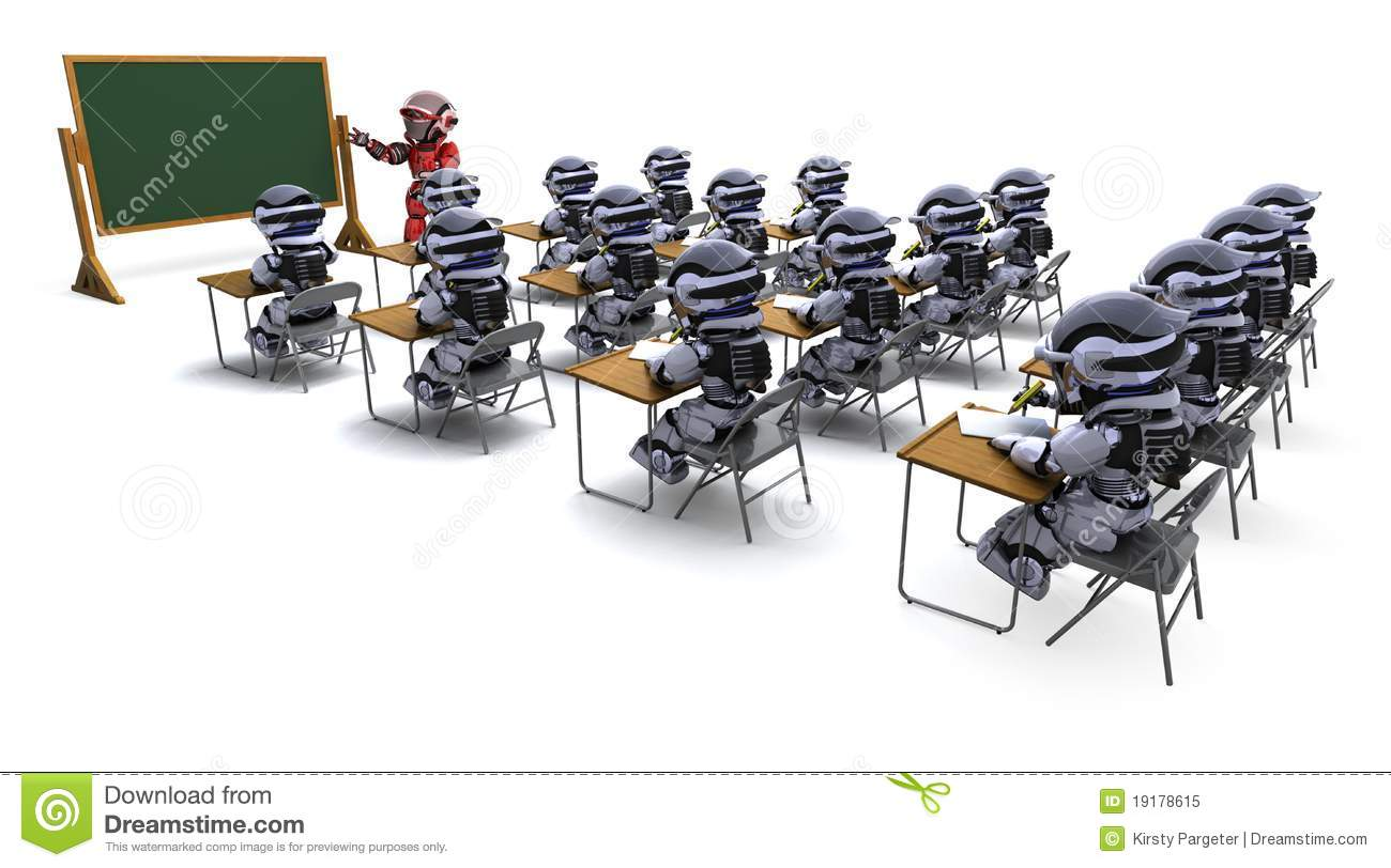 robot teacher in classroom royalty free stock photo robot clipart border robot clipart border