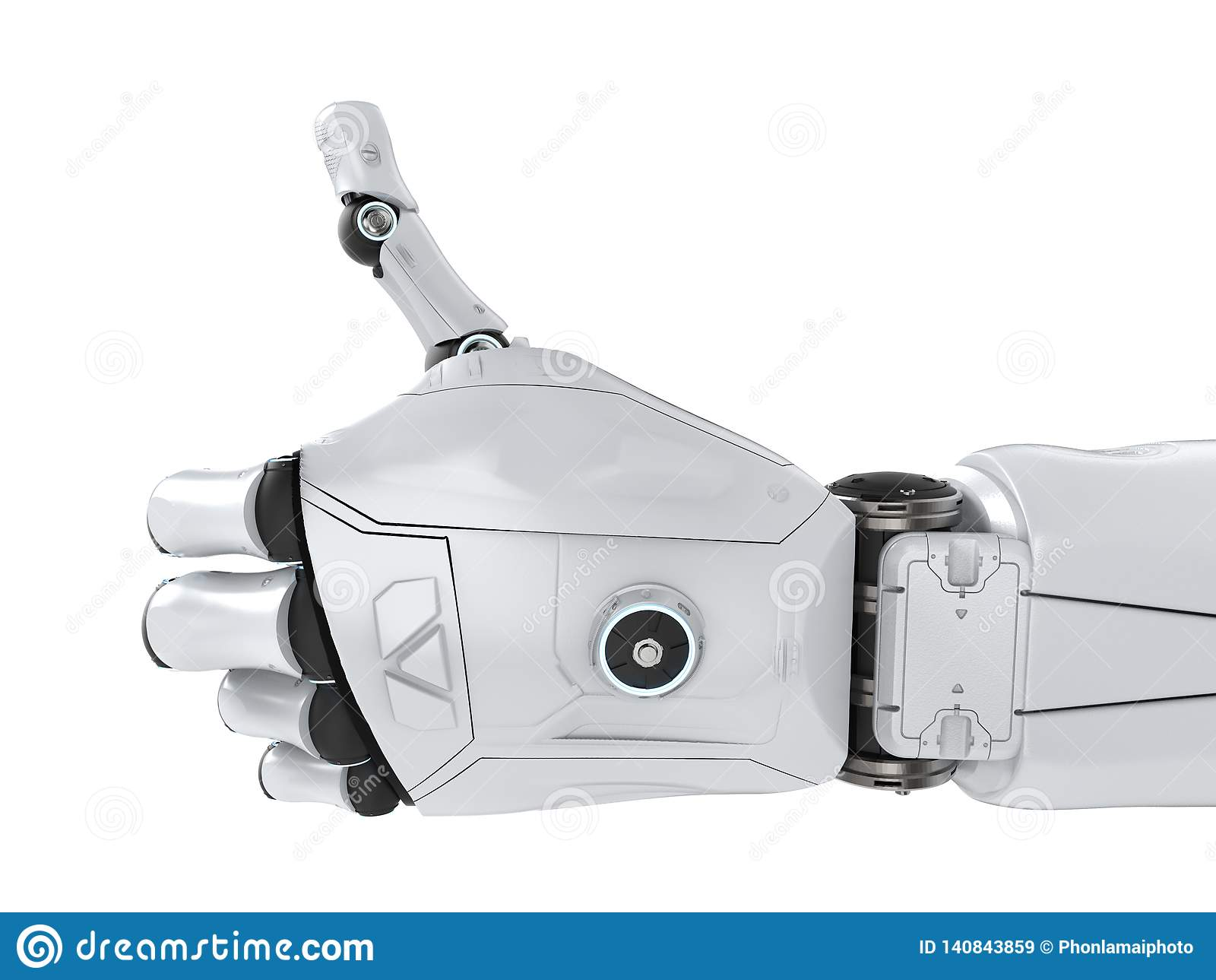 Robot thumb up