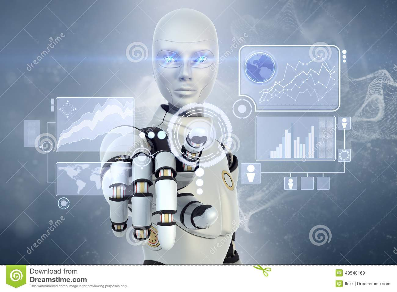 Robot and touchscreen