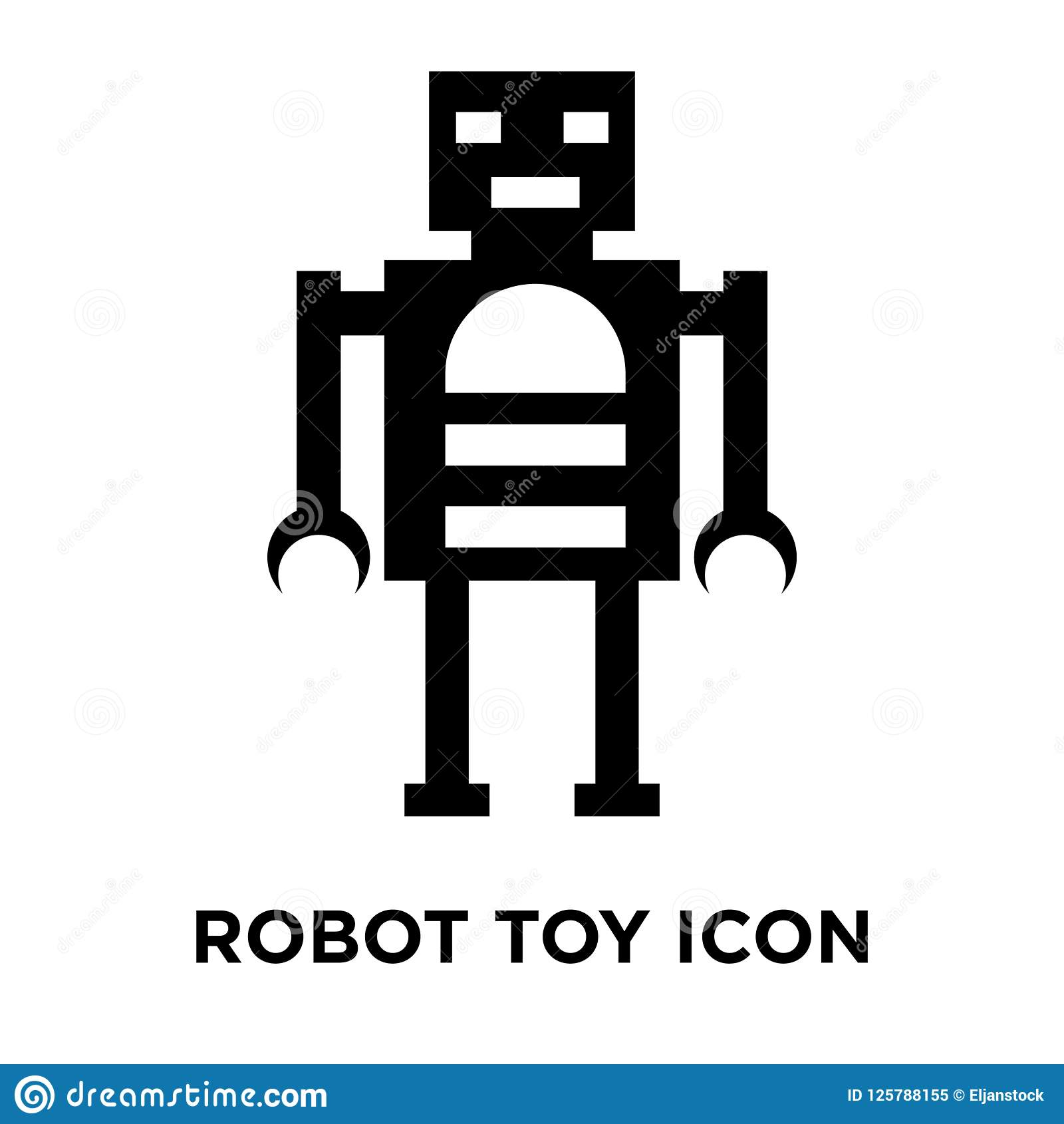 Robot Toy Icon Vector Isolated On White Background Logo Concept