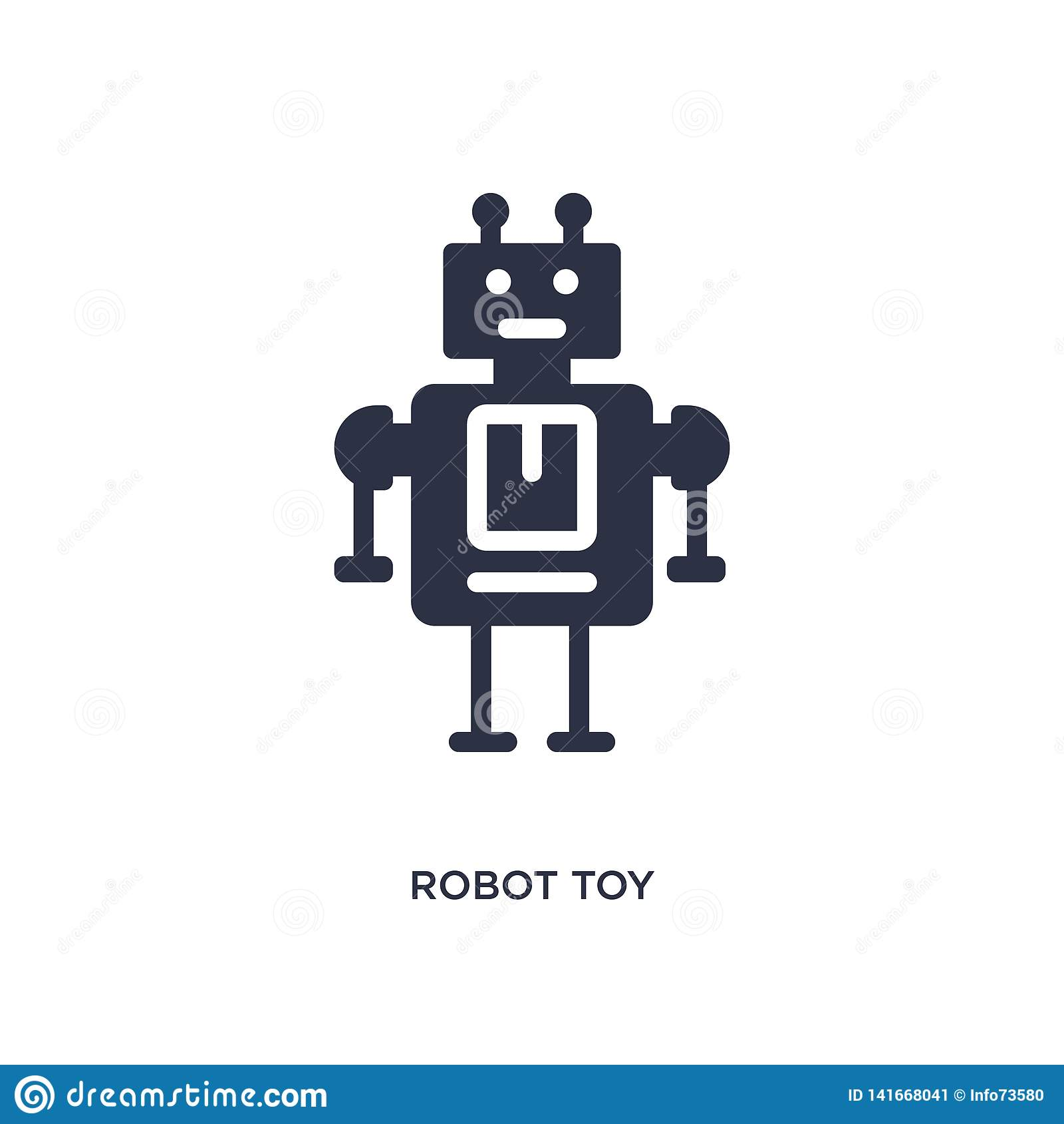 robot toy icon on white background. Simple element illustration from toys concept