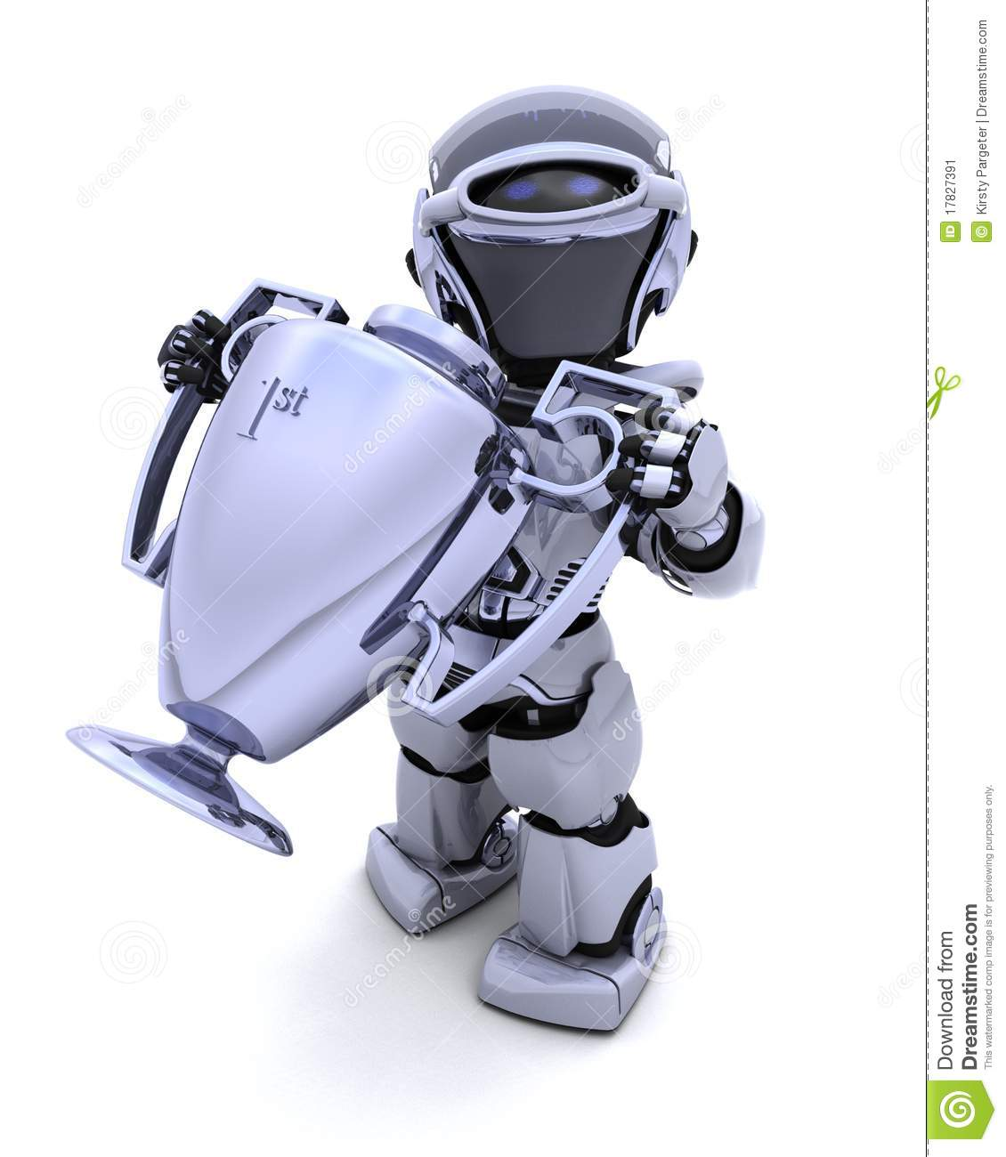 Robot With A Trophy Stock Image - Image: 17827391