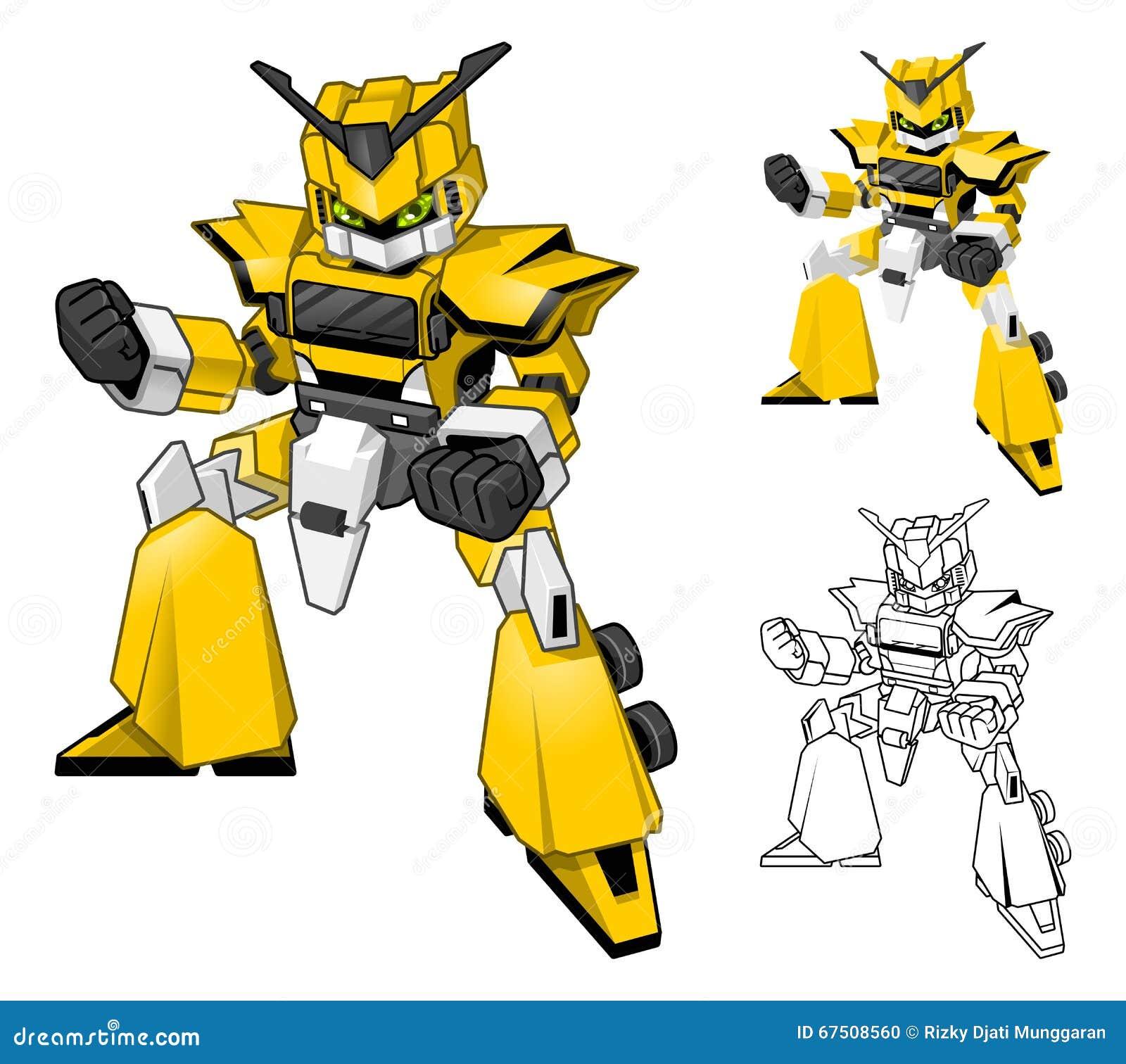 Cartoon Character Design Price : Robot truck cartoon character include flat design and line