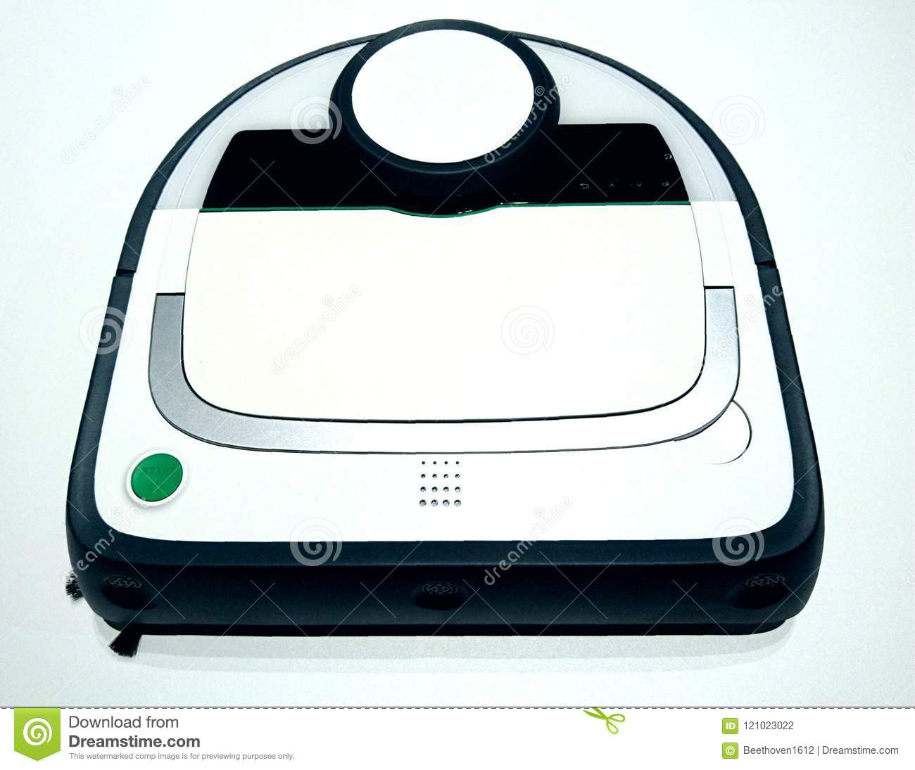 Robot Vacuum Cleaner stock photo  Image of program, moving - 121023022