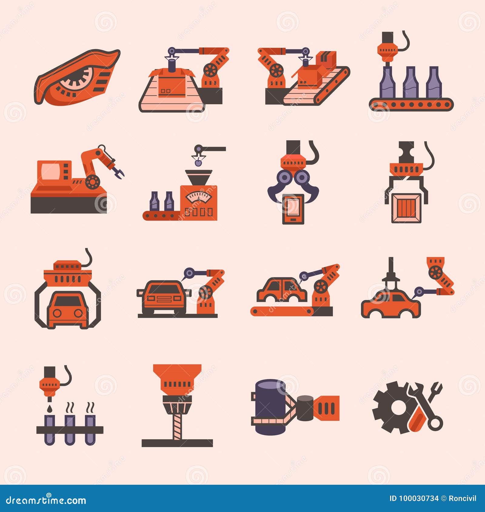 Robot Vector Icon Stock Vector Illustration Of Equipment 100030734