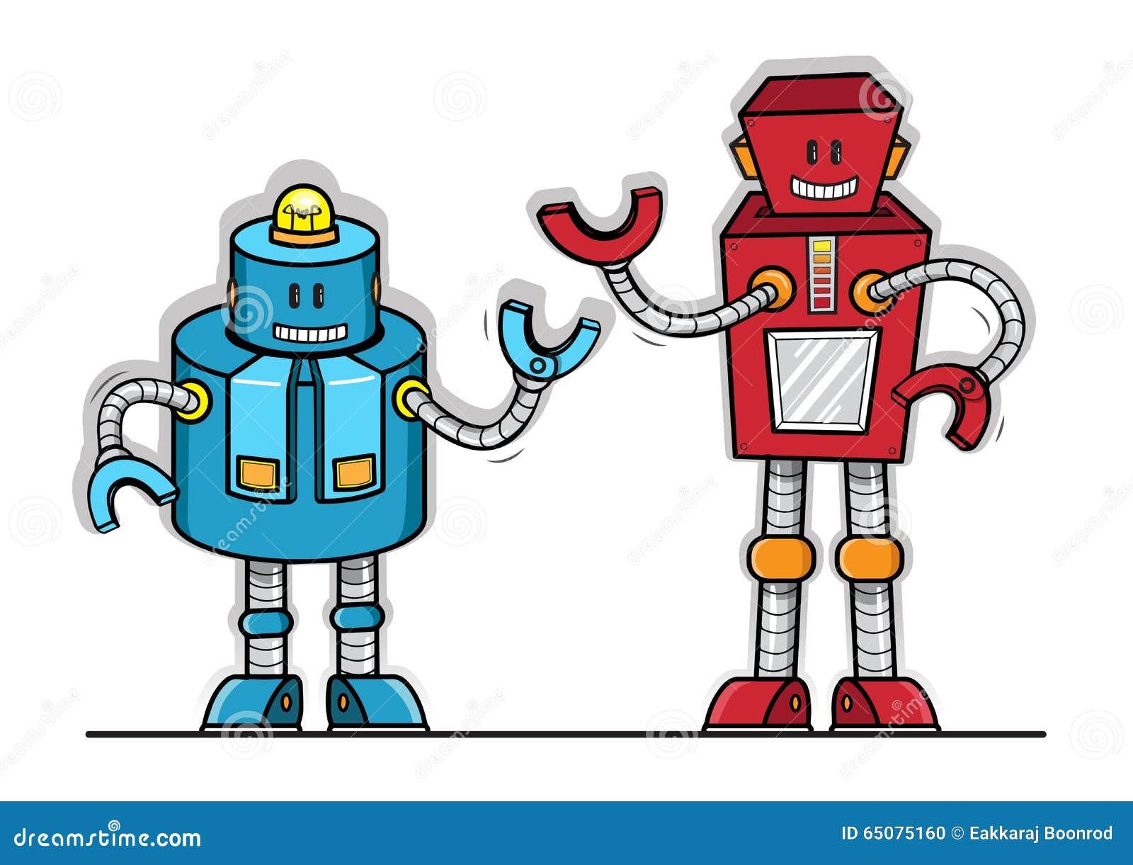 Cartoon Robot Toy : Robot vector toy model stock image of machine