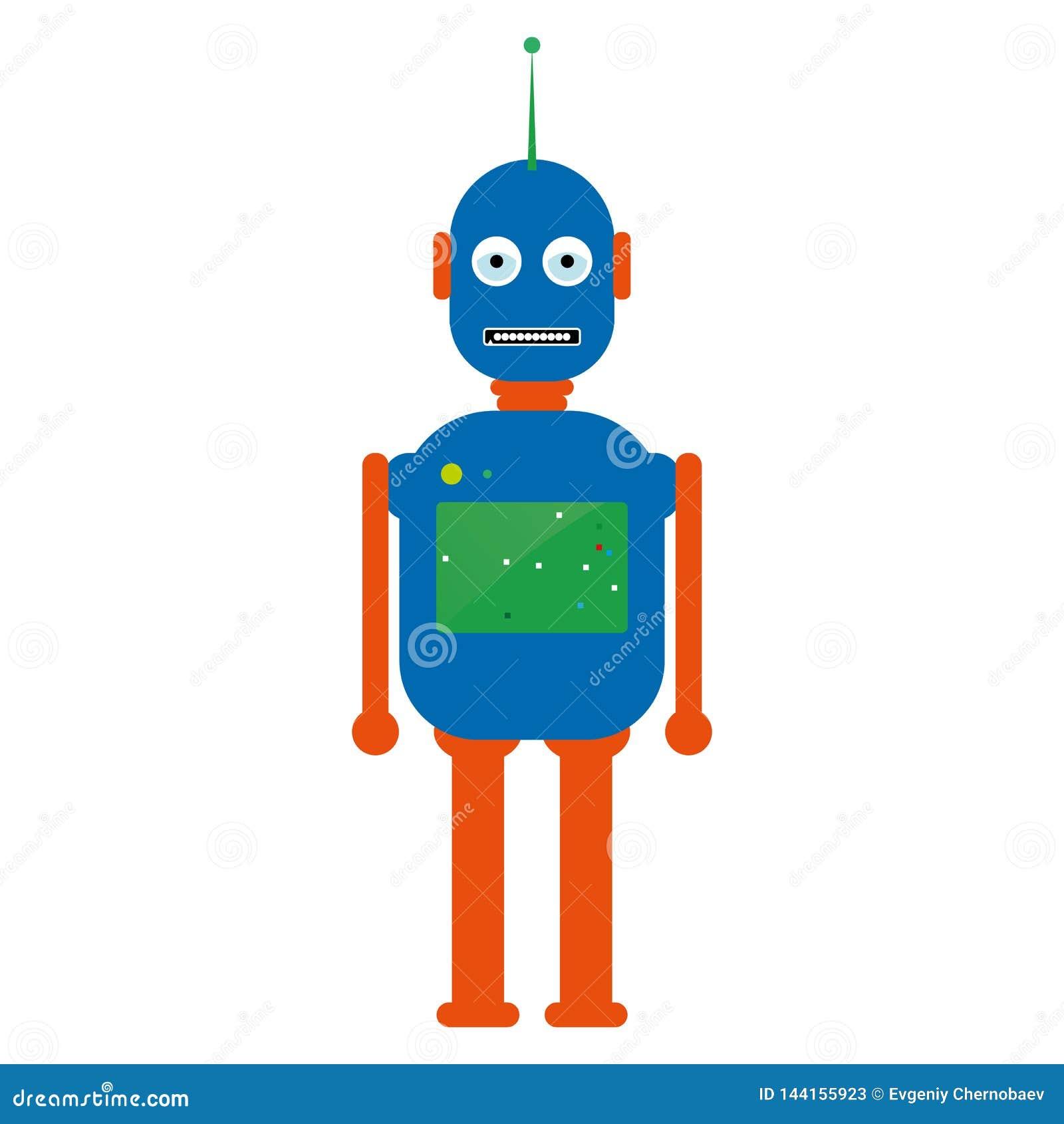 Robot vectoreps10 Hipster uitstekende robot Retro robot Uitstekende robot