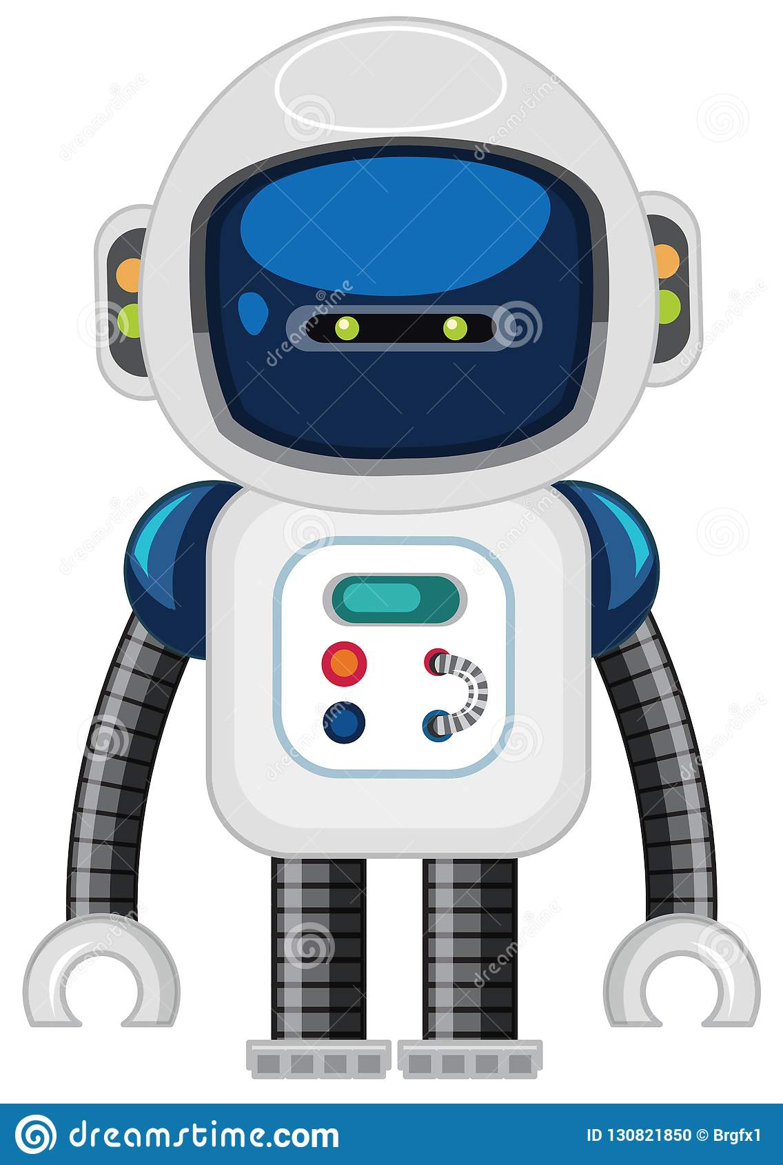 A robot on white background