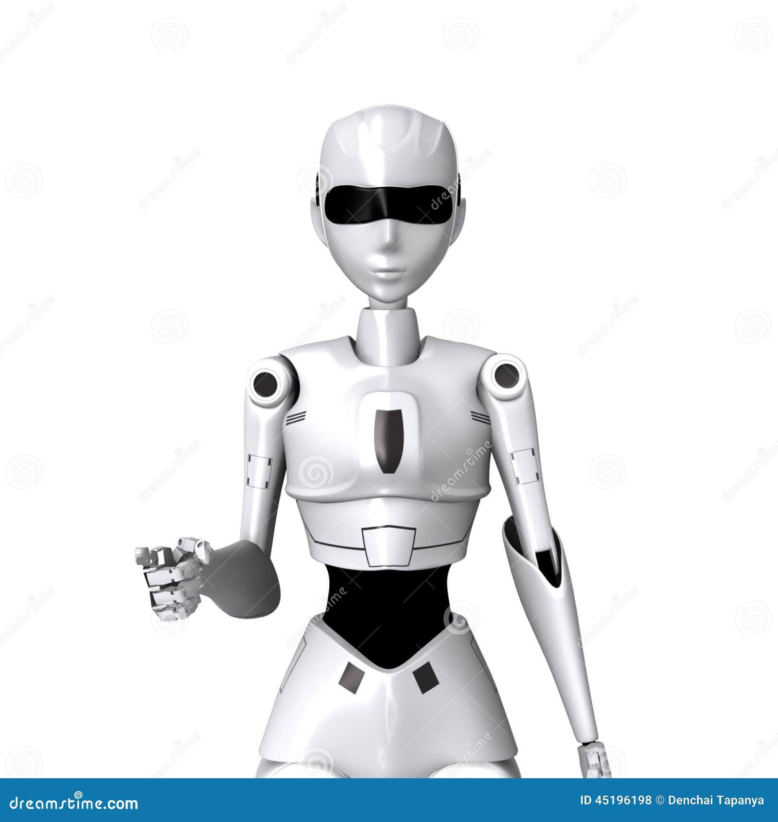 Robot and you pose