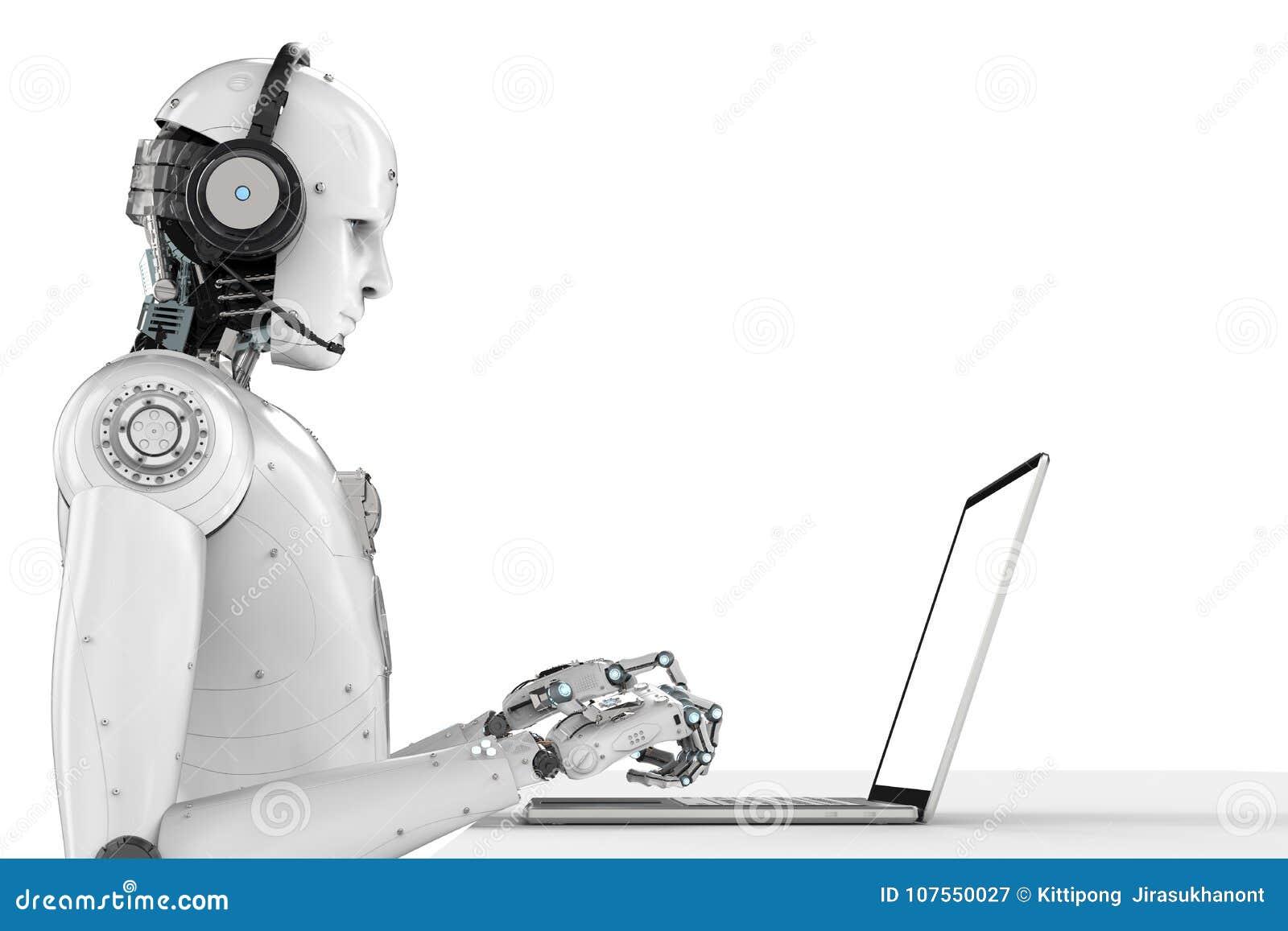 Robot Z słuchawki