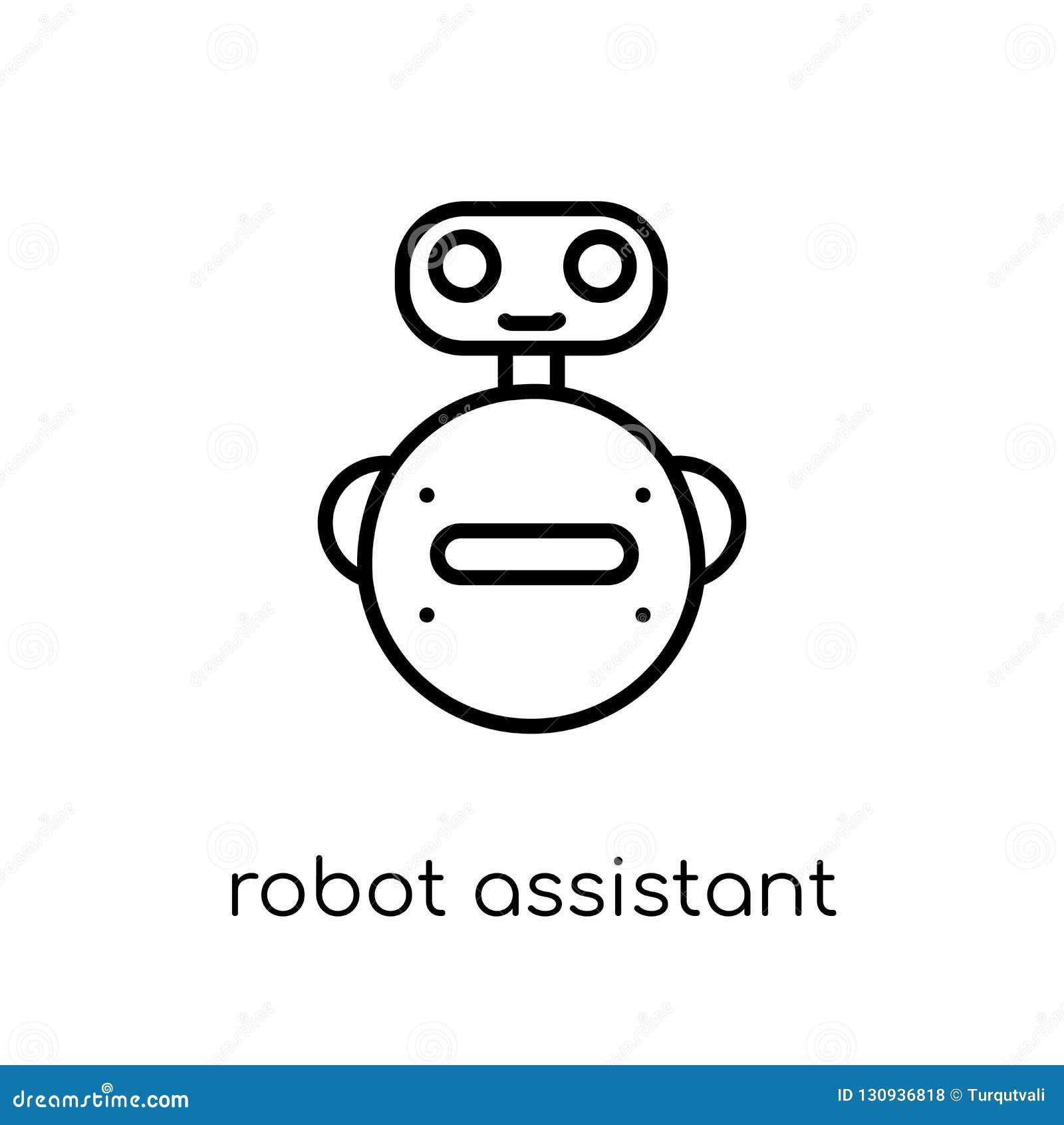 Robota asystenta ikona