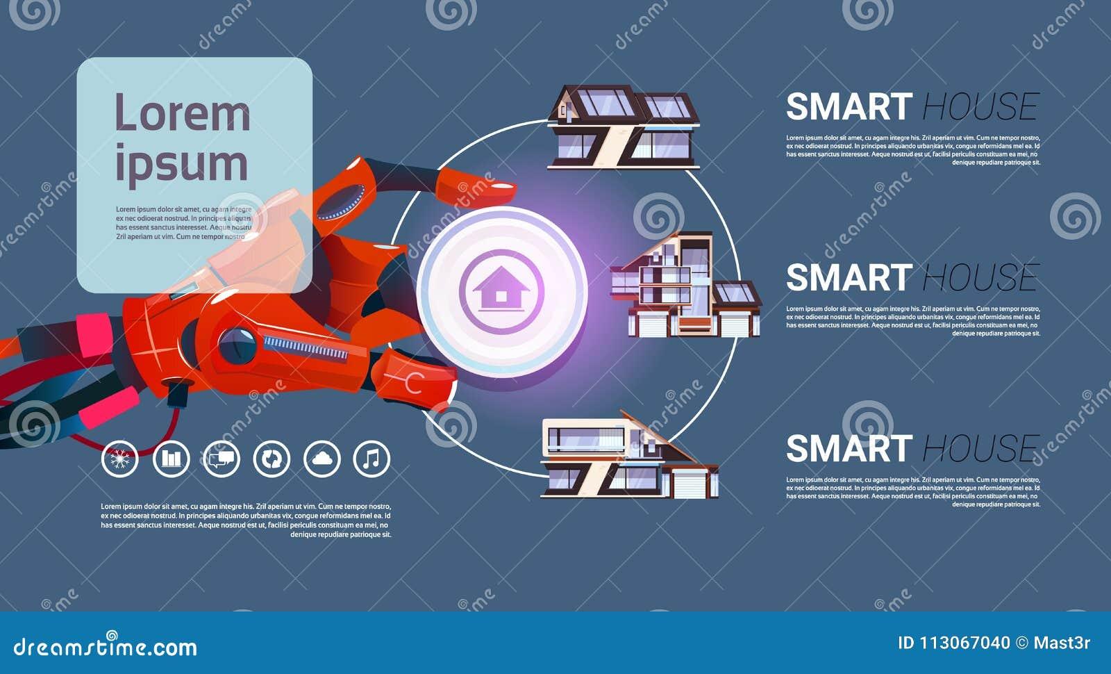 Robotachtig overhandig de Slimme Technologie van de Huis Controlerende Interface van het Concept van de Huisautomatisering