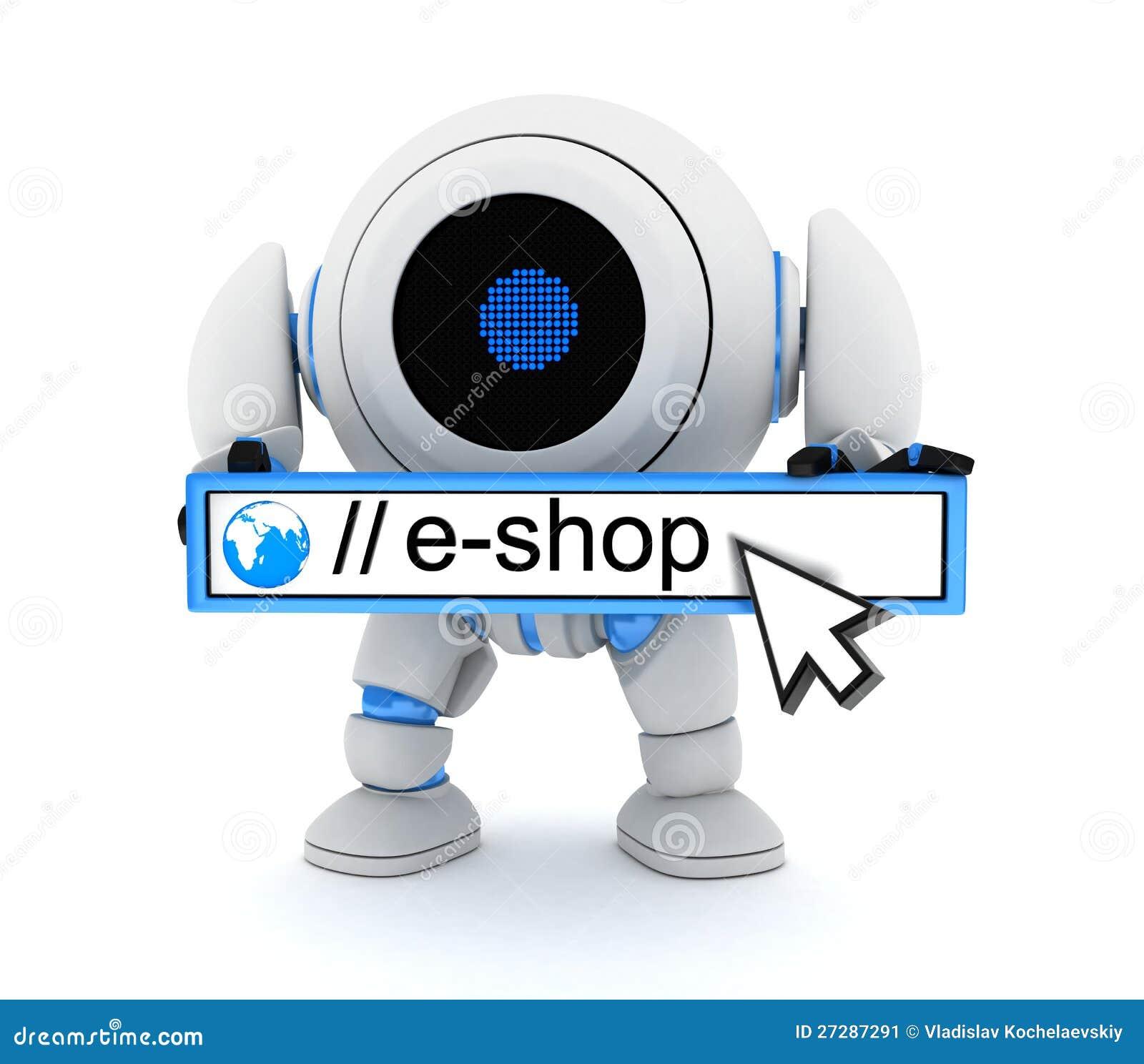 Roboten och e-shoppar