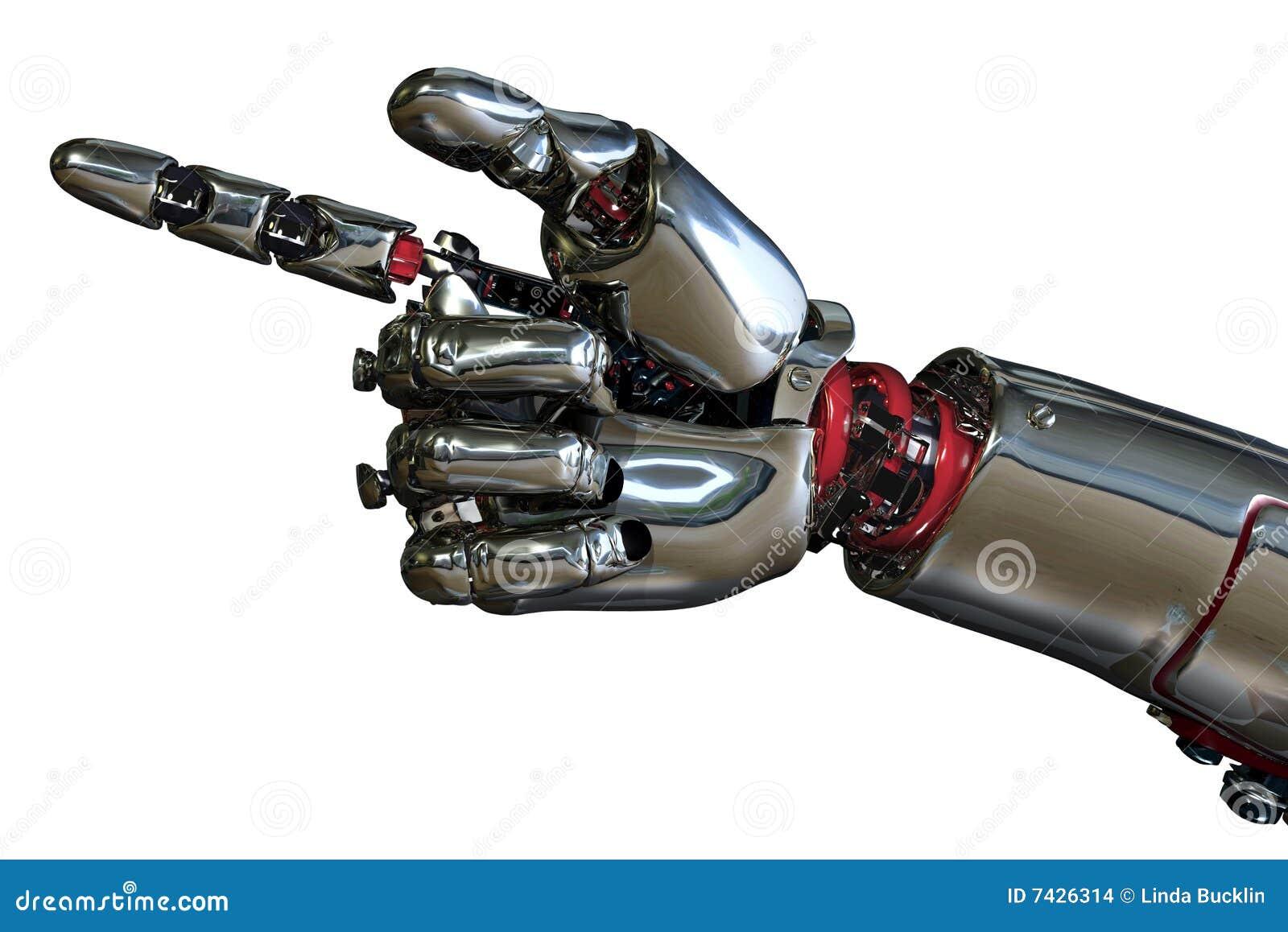 Roboter-Handzeigen