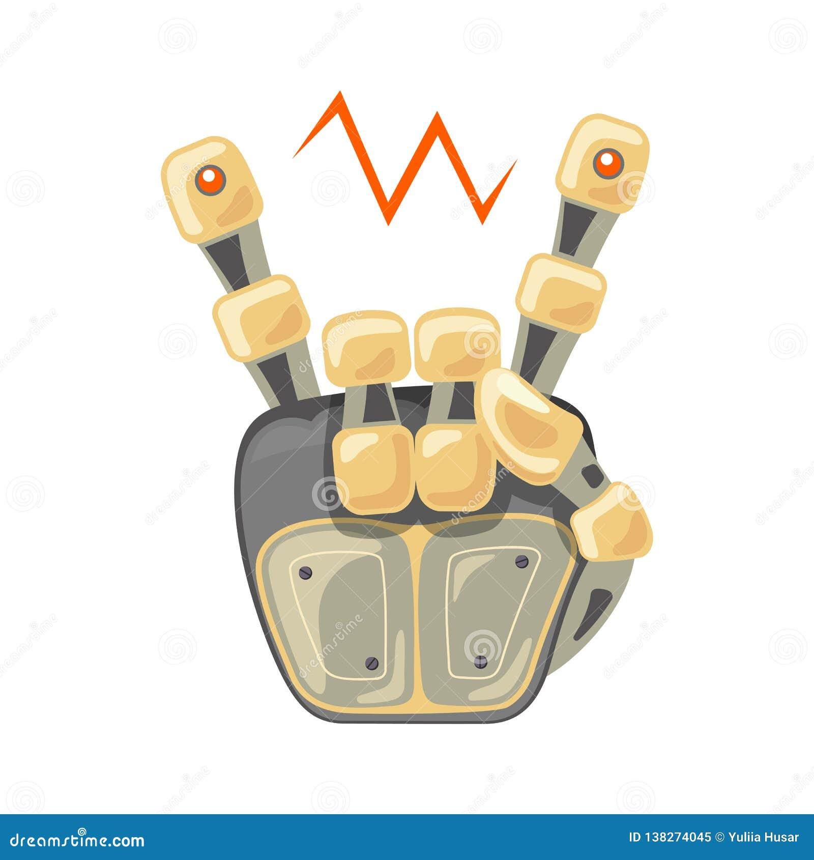 Roboterhand und -schmetterling Mechanisches Technologiemaschinen-Techniksymbol Kühle, gute Ikone brennende Gitarre gegen schwarze
