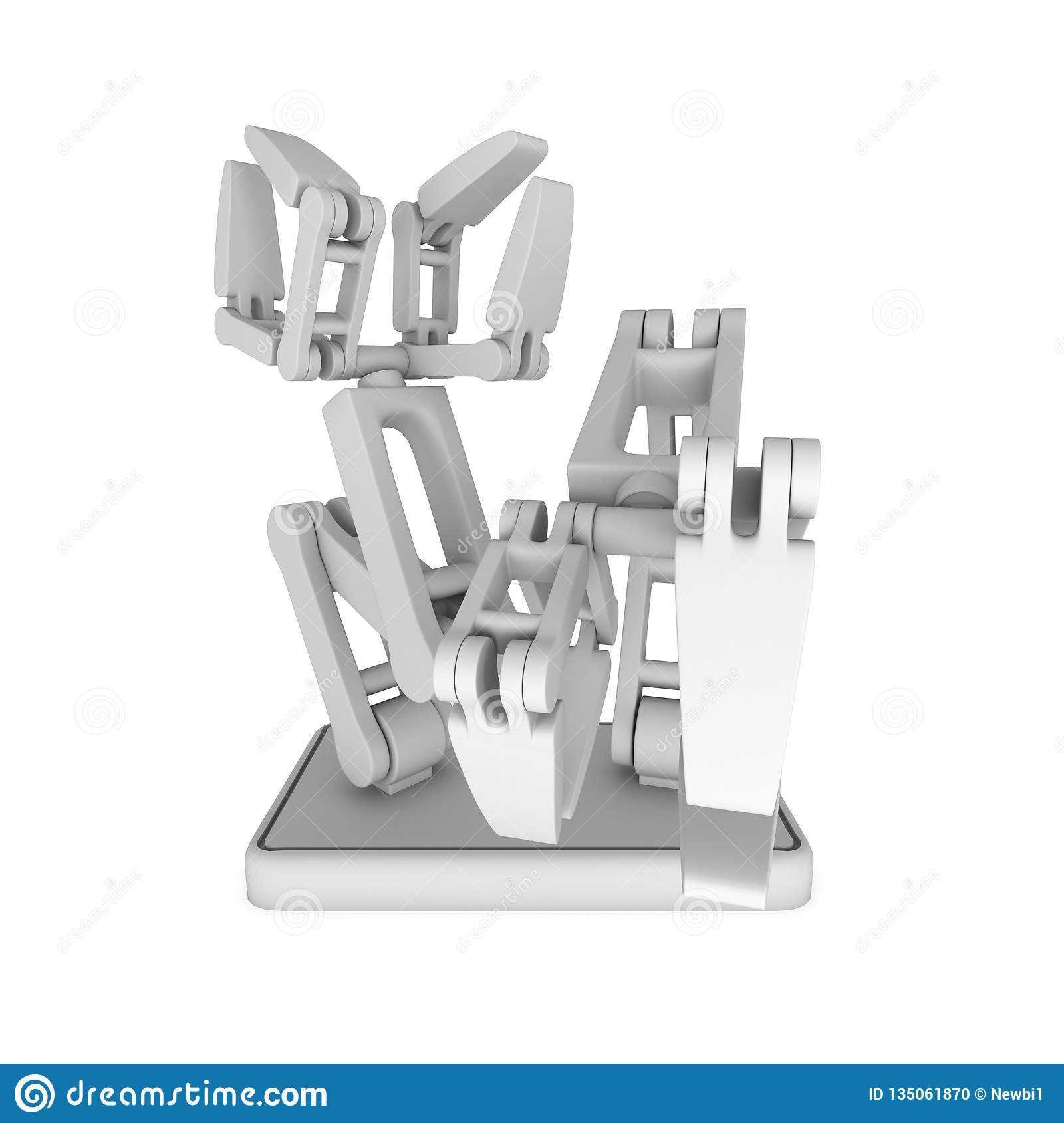 Robotic arm 3d stock illustration  Illustration of control - 135061870